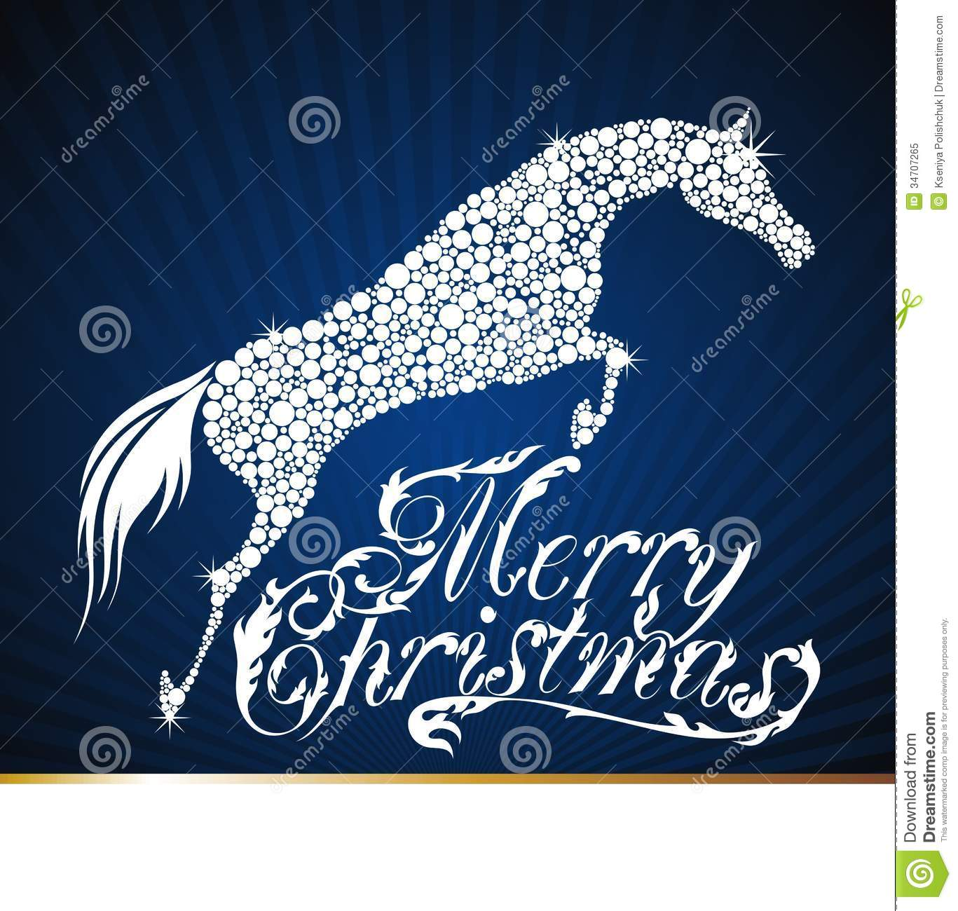 Horse. Merry Christmas 2014 Stock Vector - Illustration of concept ...