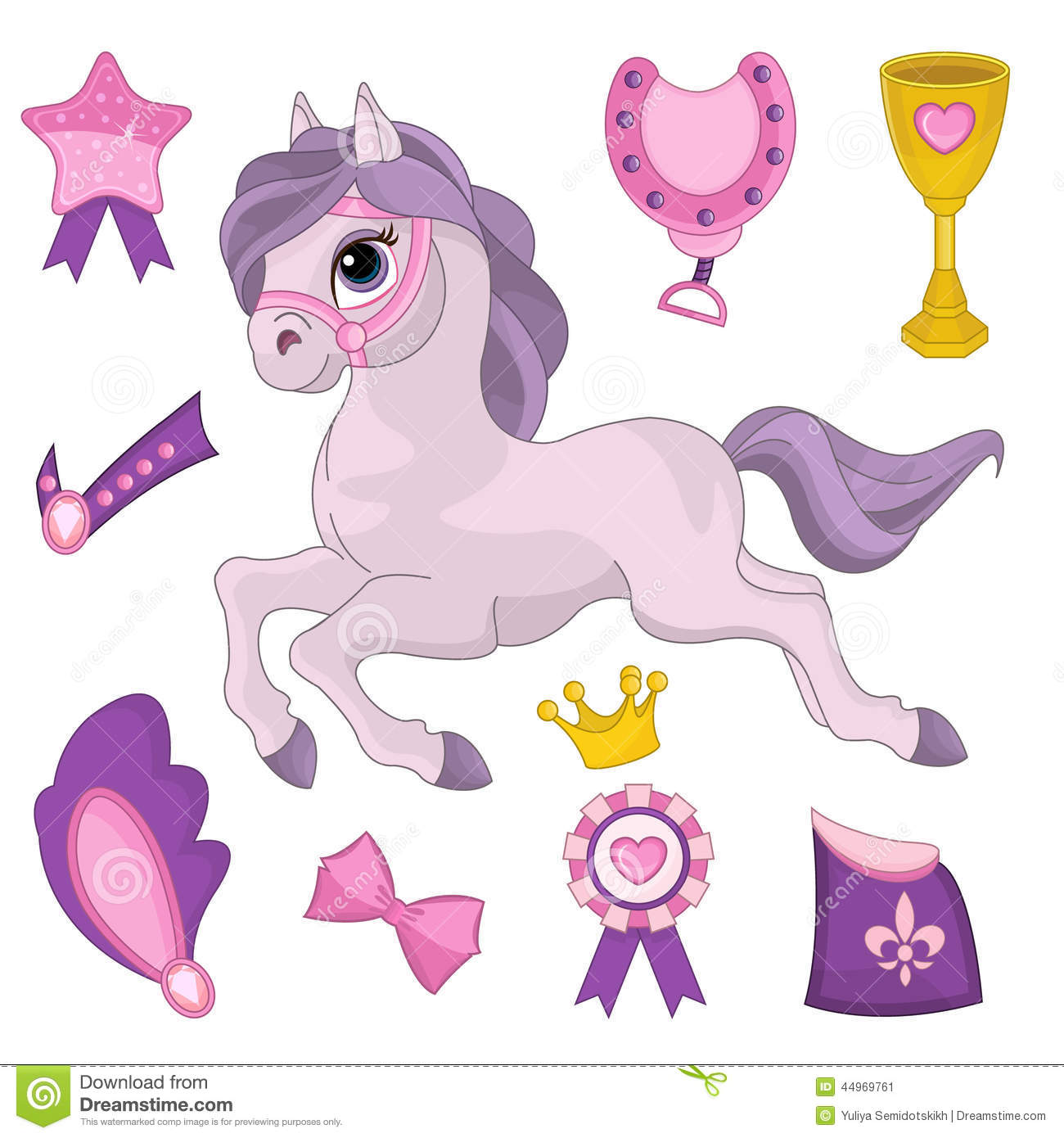 Horse Paper Doll Stock Vector