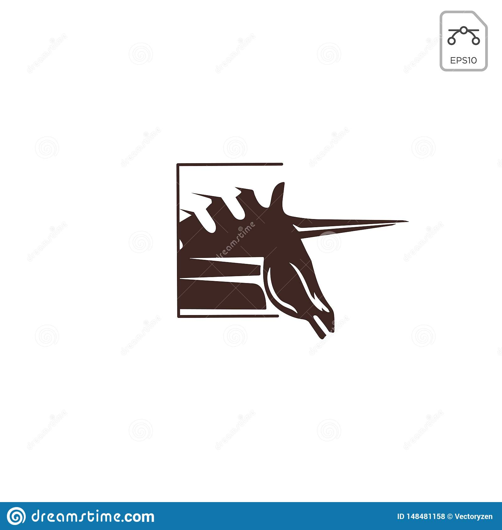 Horse Pegasus Logo Design Inspiration Vector Icon Isolated Stock Vector Illustration Of Element Abstract 148481158
