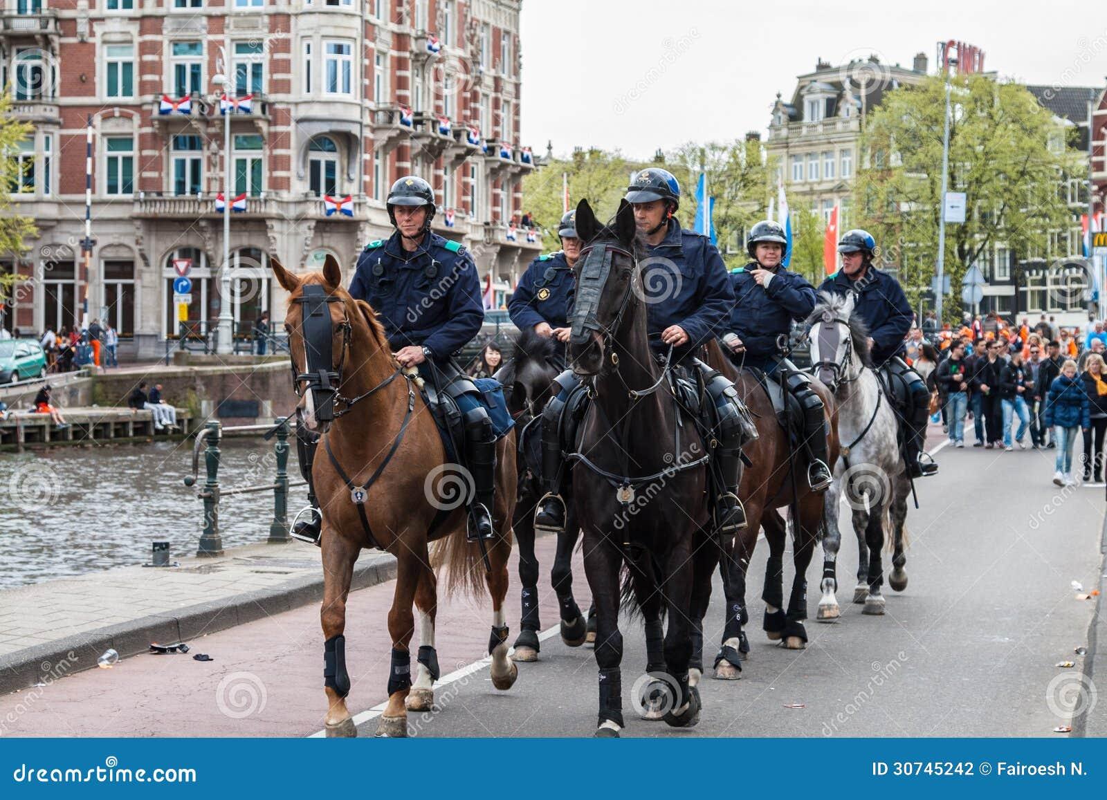 Horse police at Koninginnedag 2013