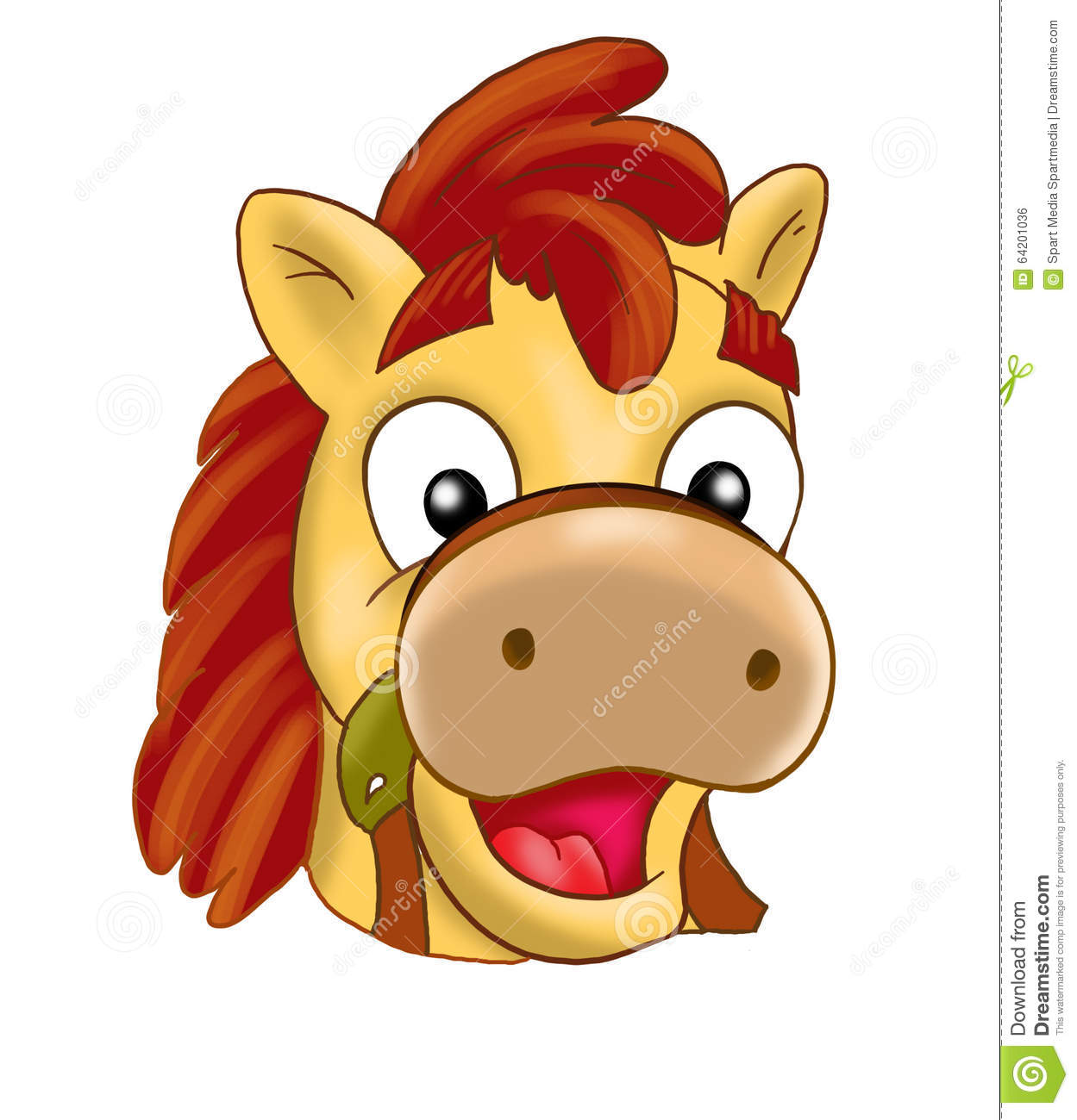 Download Horse, pony Mask, carnival stock illustration. Illustration of baby - 64201036