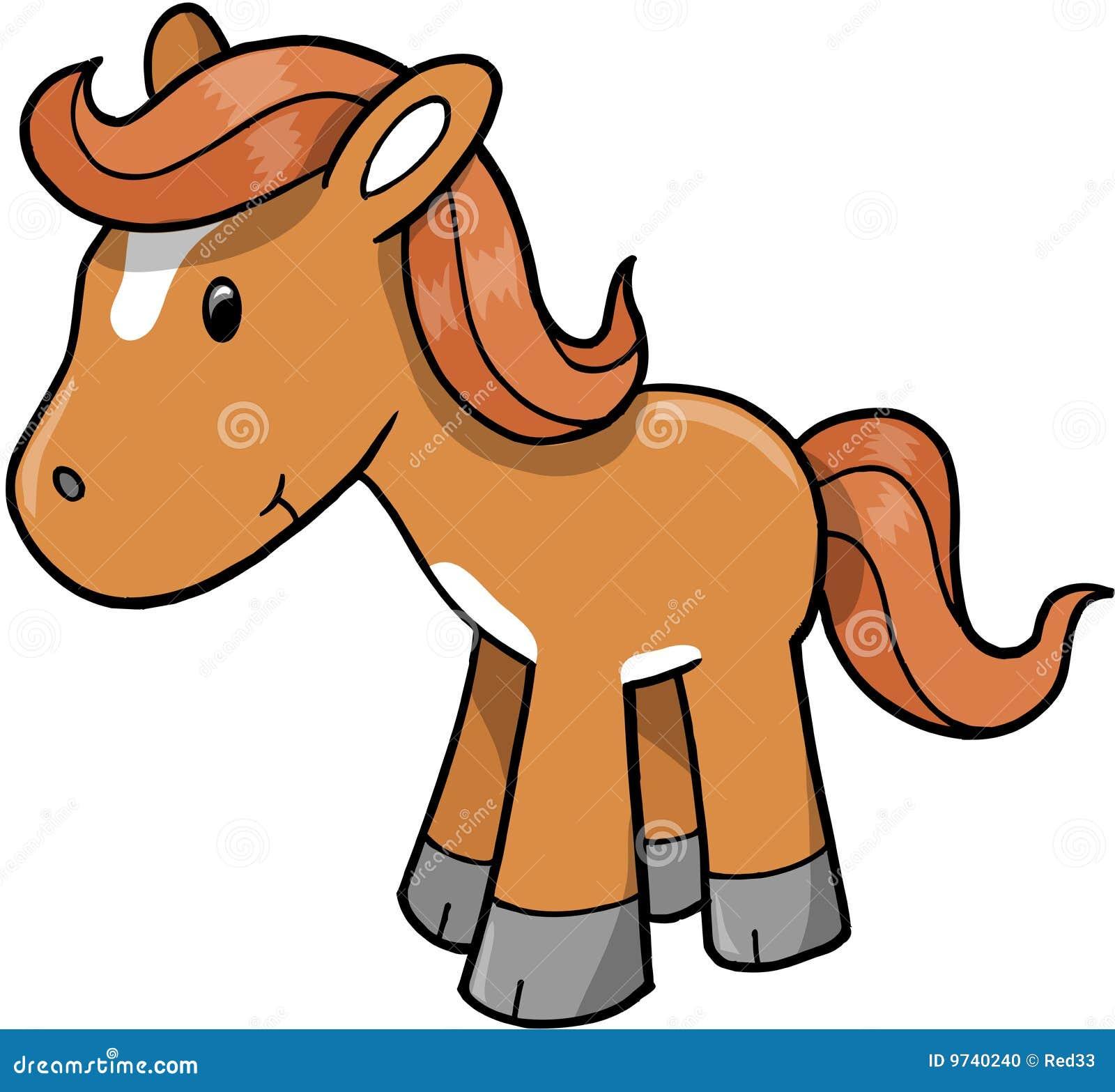 Horse Pony Vector Illustration Stock Vector Illustration