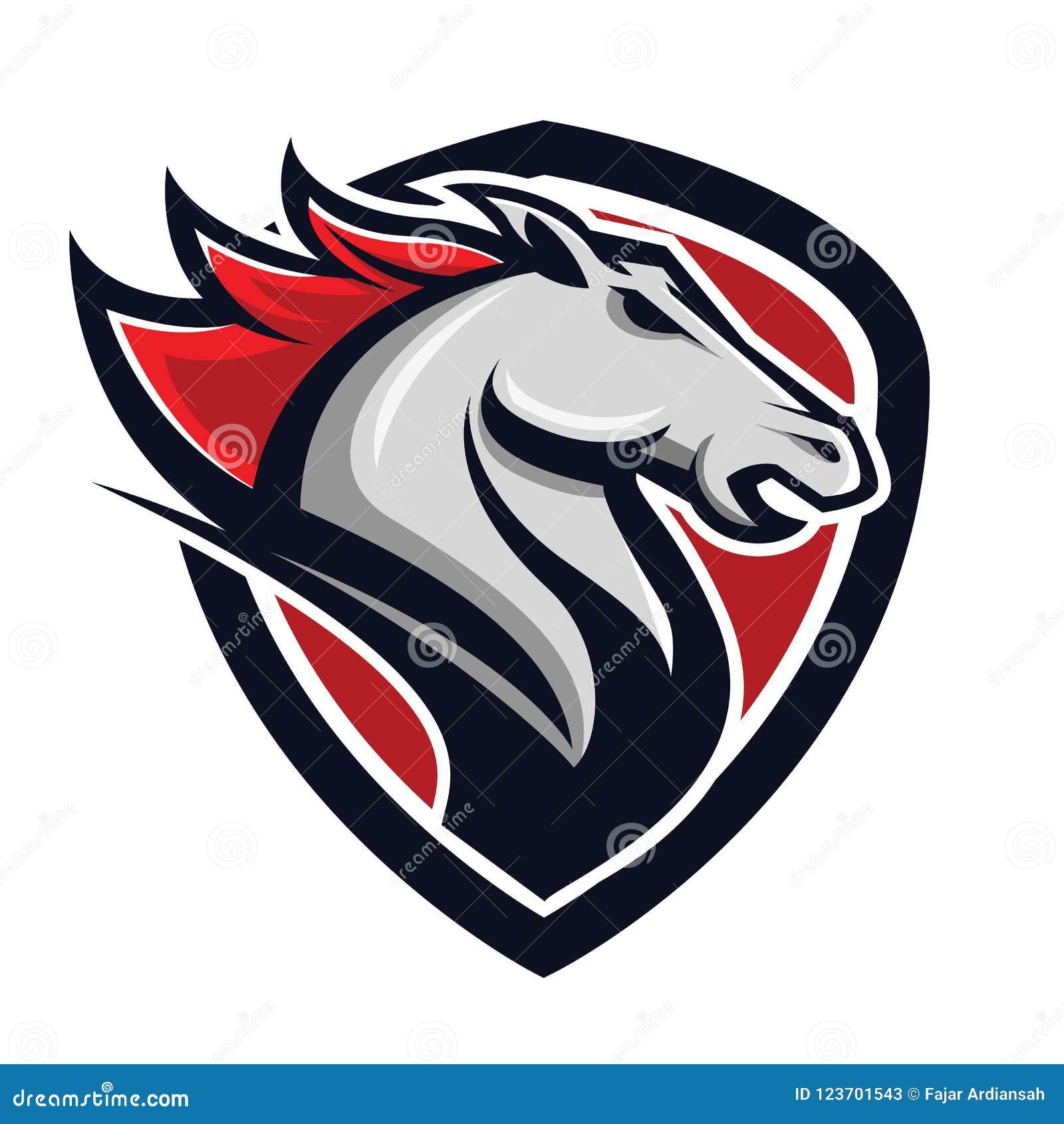 Horse Power Badge Logo Concept Stock Illustration Illustration Of