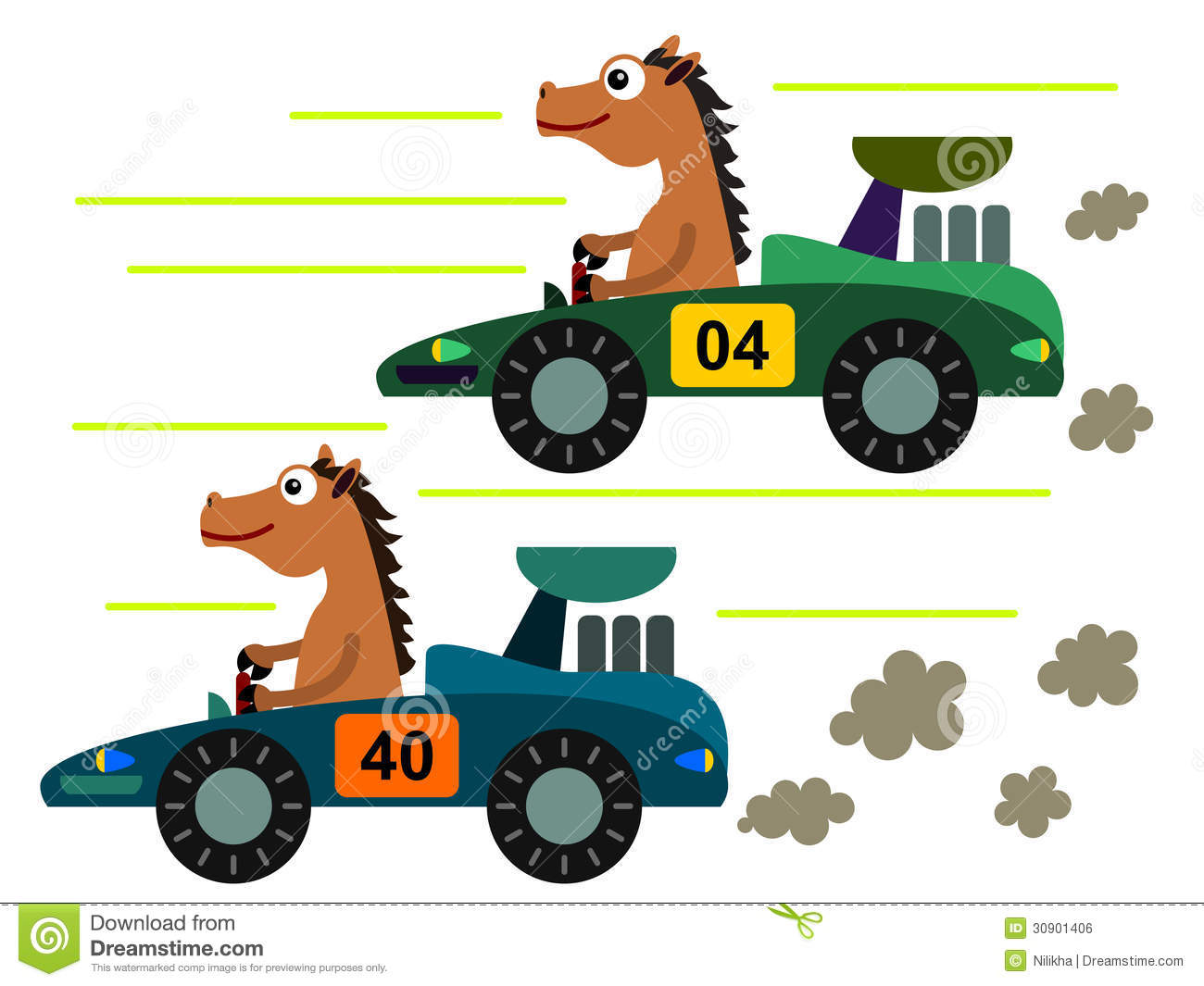 Horse On A Race Stock Illustration Illustration Of Race 30901406