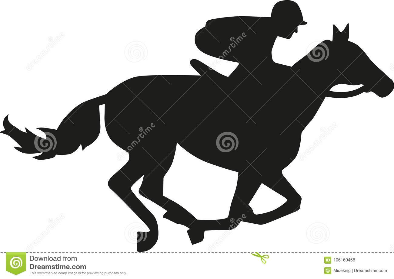 Horse Race Silhouette Stock Vector Illustration Of Race 106160468