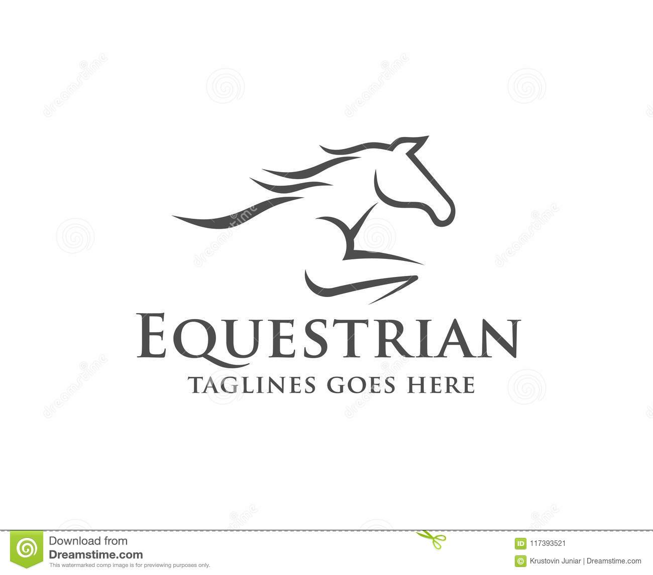 Horse Racing Logo Template Stock Vector Illustration Of Animal