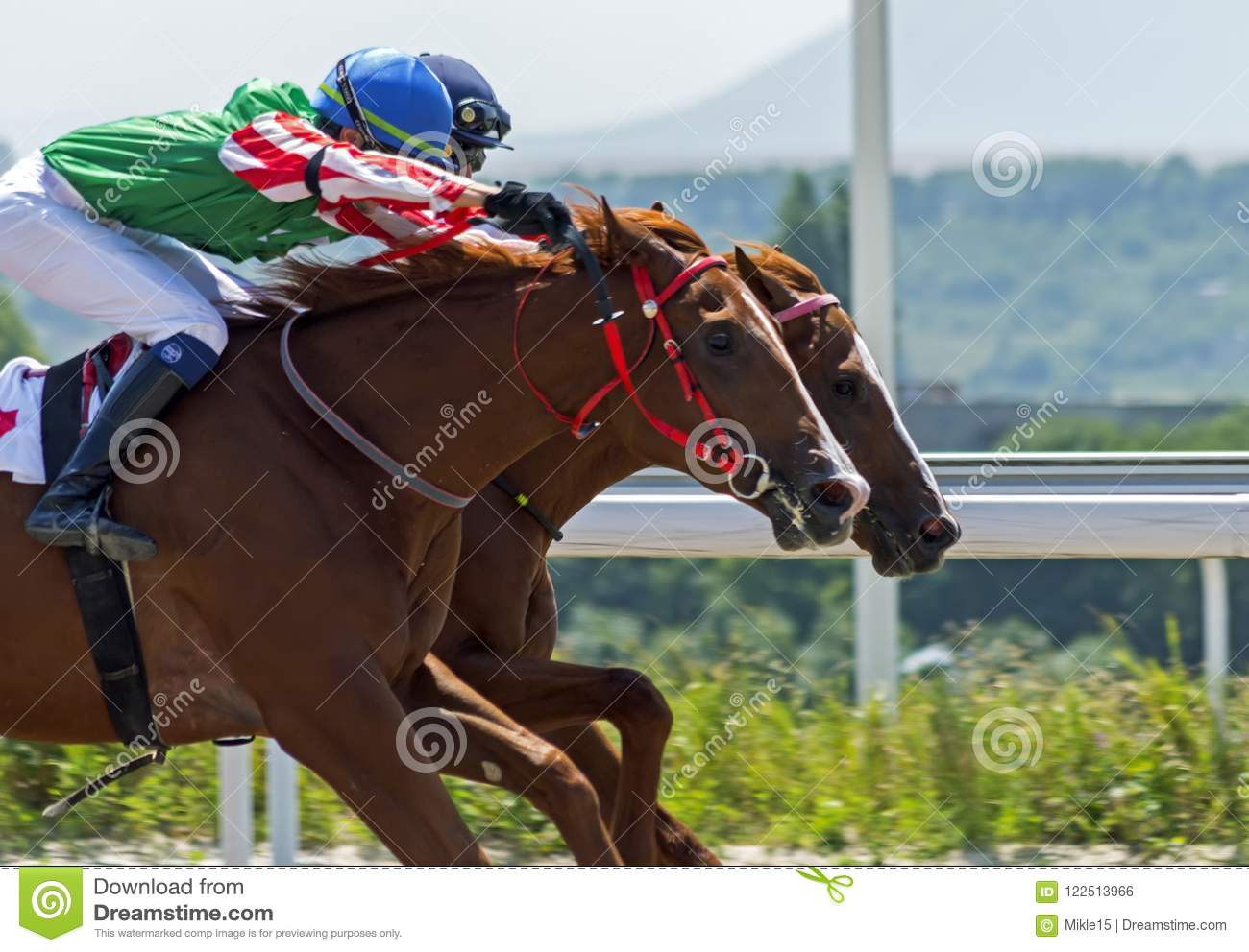 Horse racing for the prize of Ogranichitelni in Pyatigorsk.