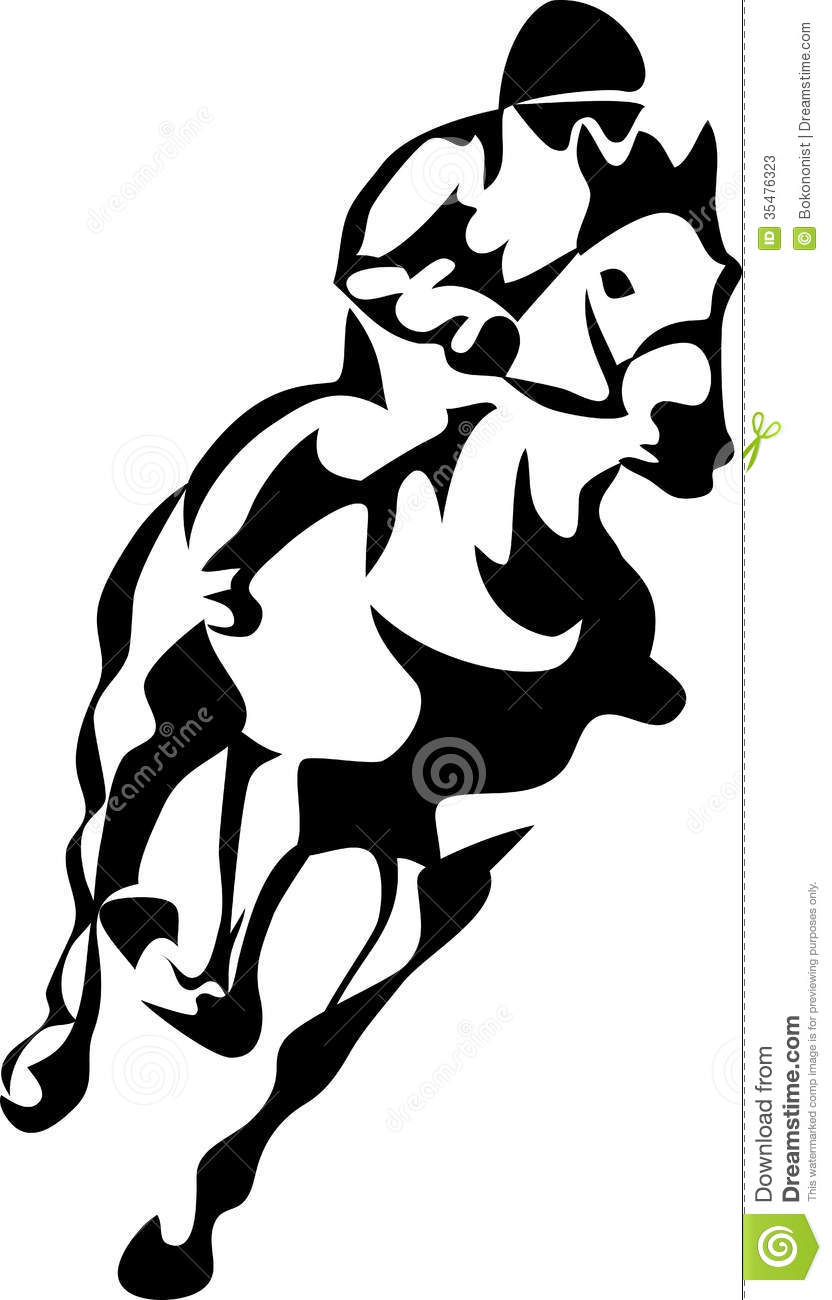 Horse Stock Vector Illustration Of Gallop Turf Speed