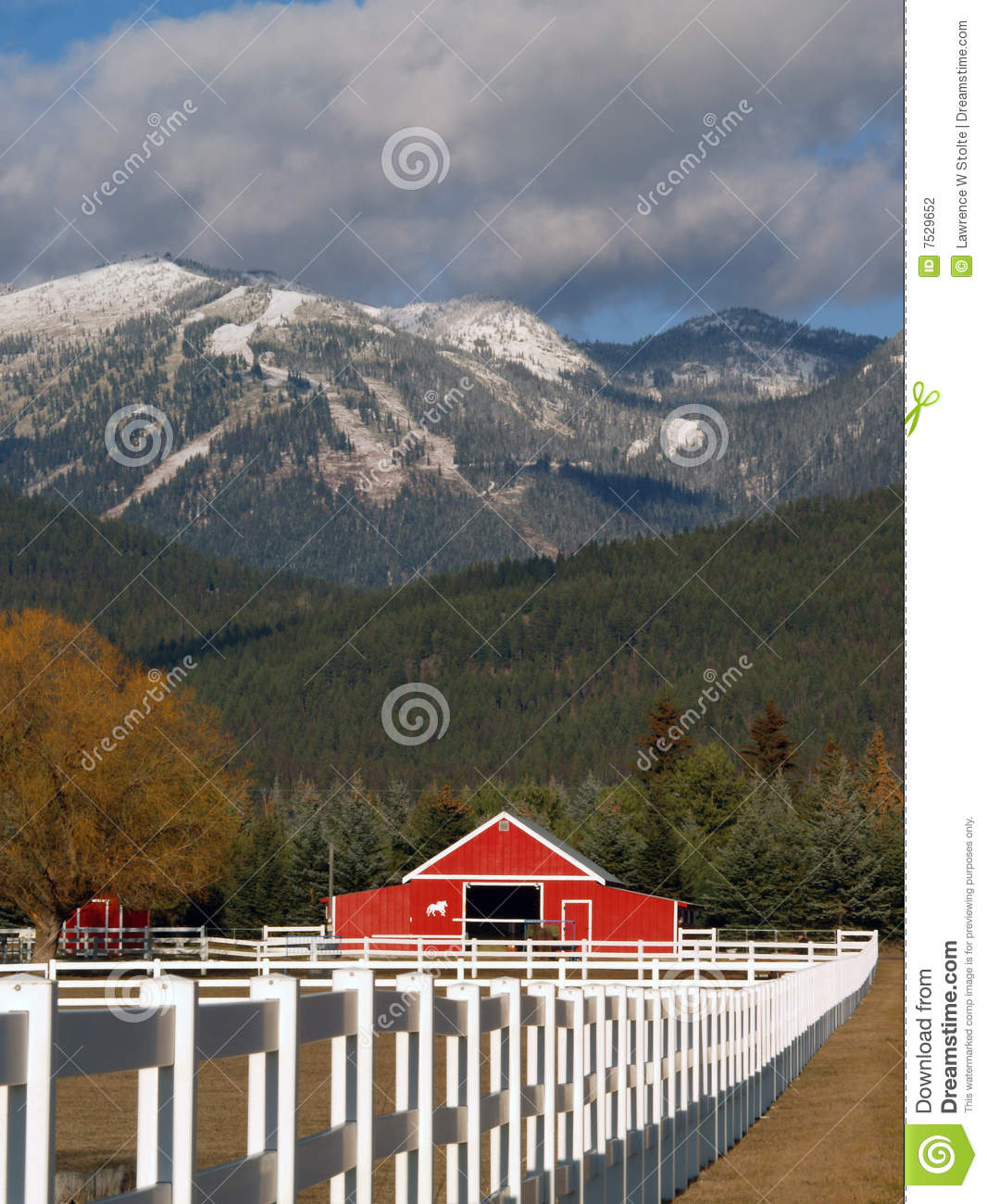 Horse Ranch and Mountains