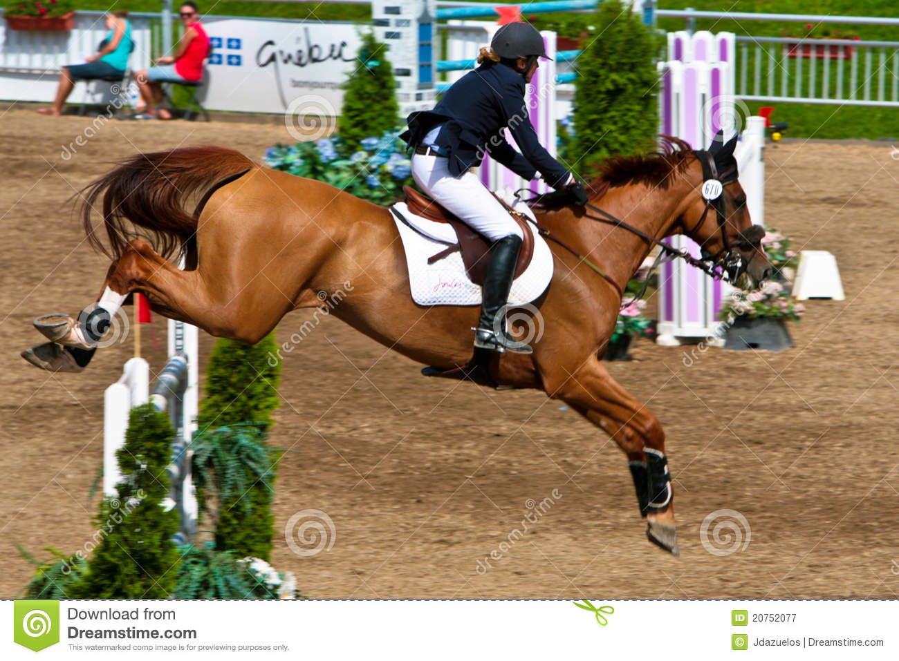 Horse Rider at the Bromont jumping competition