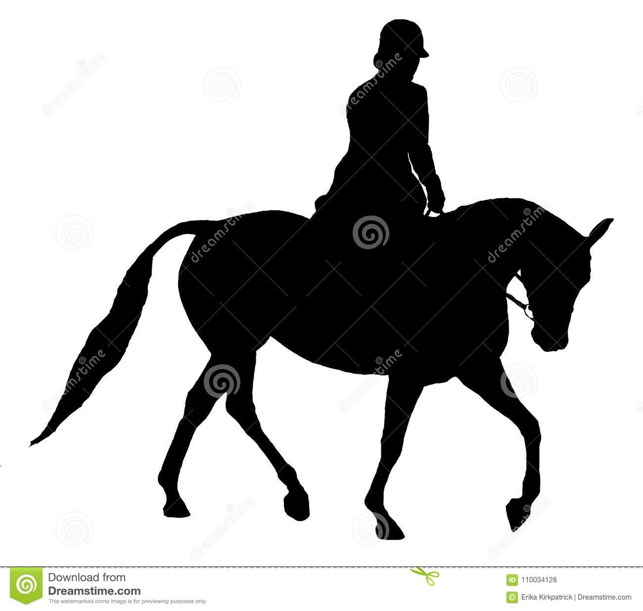 Horse And Rider Silhouette Isolated Stock Illustration Illustration Of Animal Background 110034128