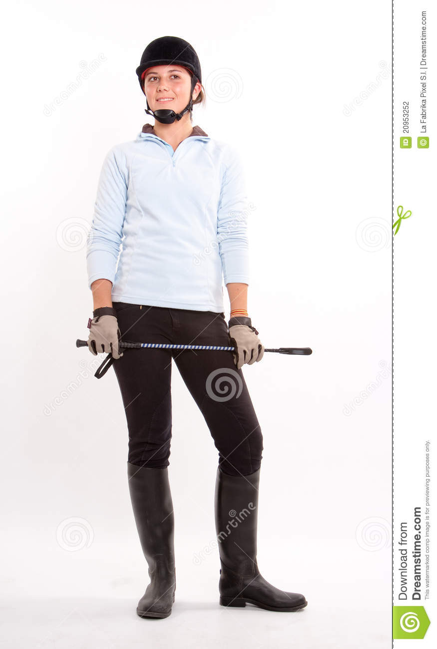 Horse Riding Gear Stock Photo Image Of Smiling Girl