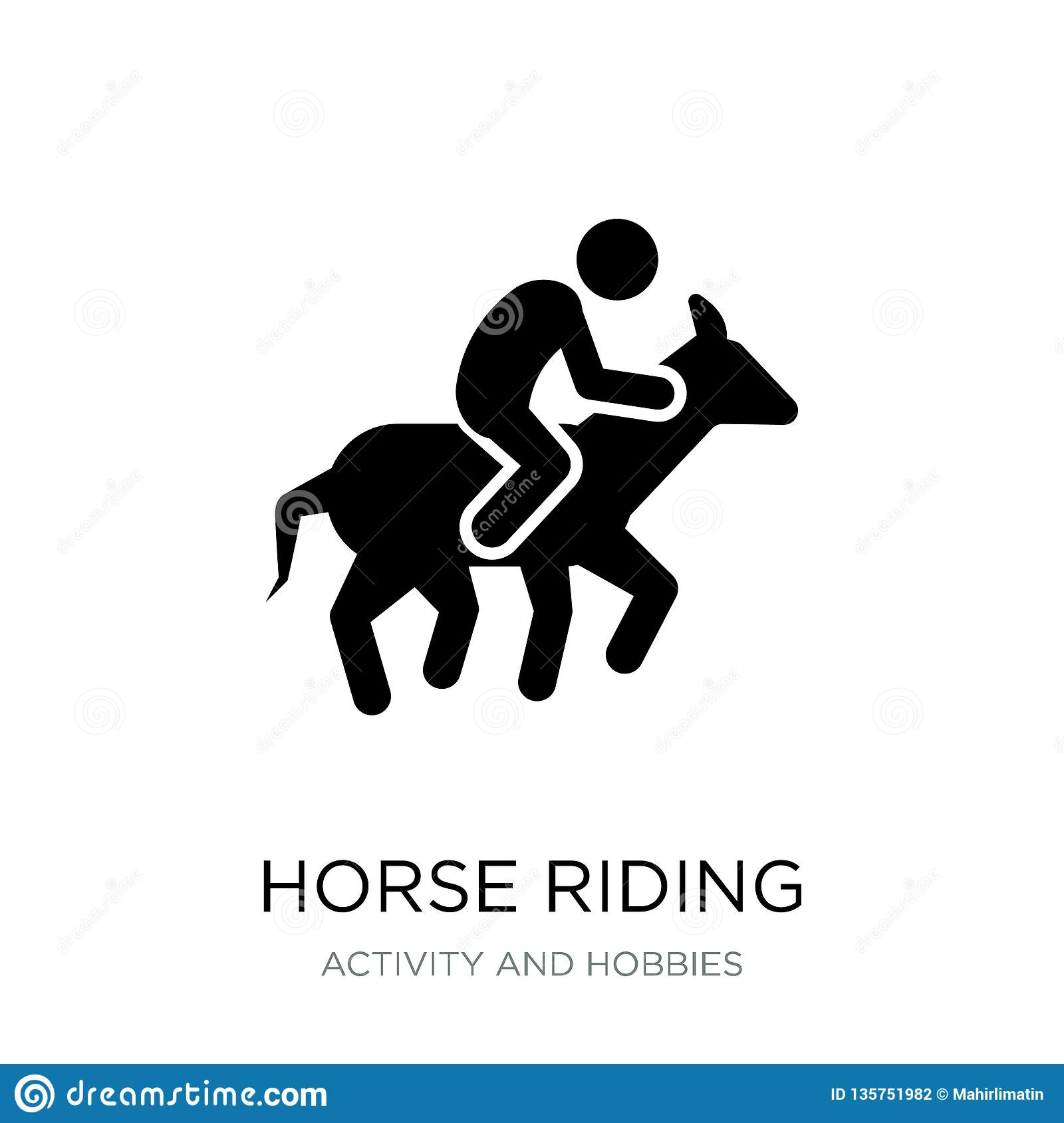 Horse Riding Icon In Trendy Design Style  Horse Riding Icon