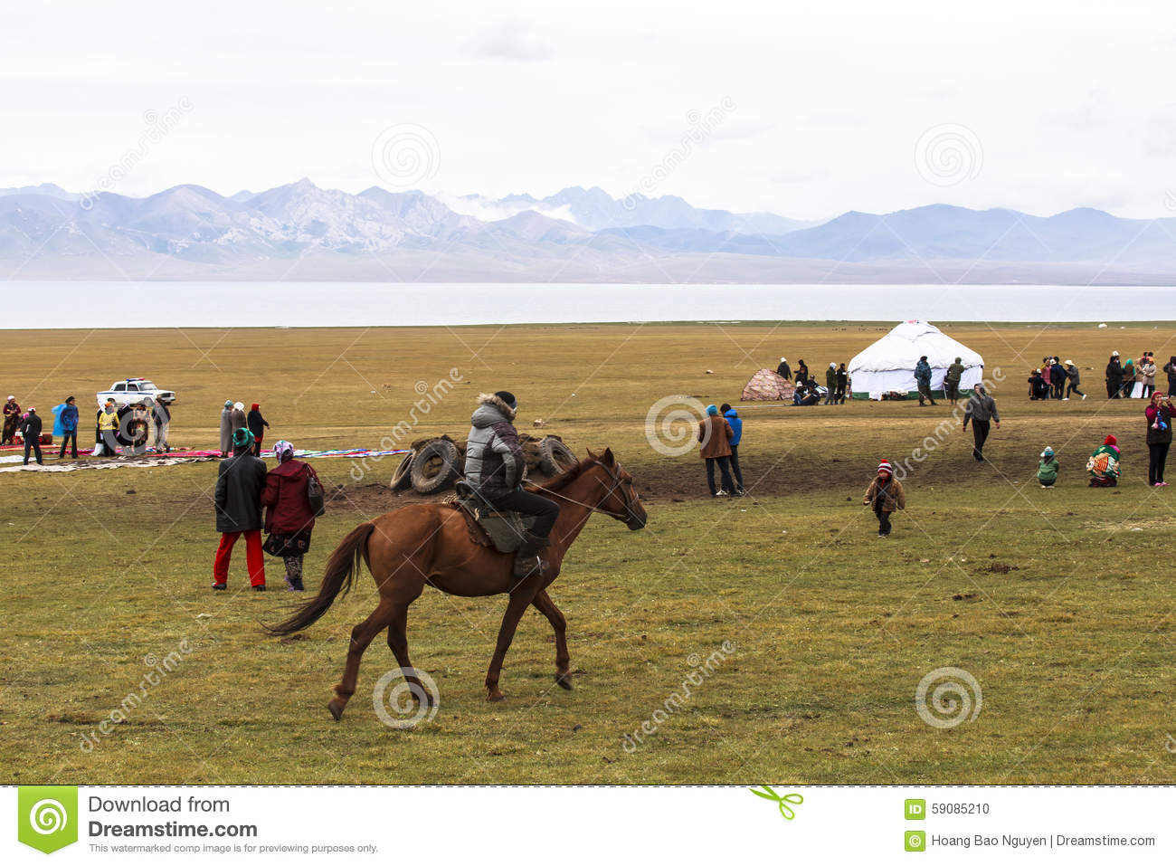 Horse Riding in Song kul Lake in Kyrgyzstan