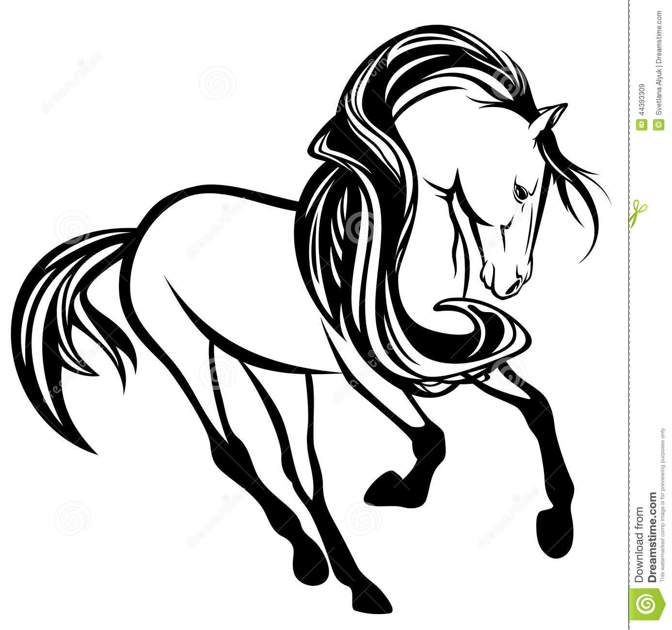 Wall Stickers How To Apply Horse Running Stock Vector Illustration Of Beautiful