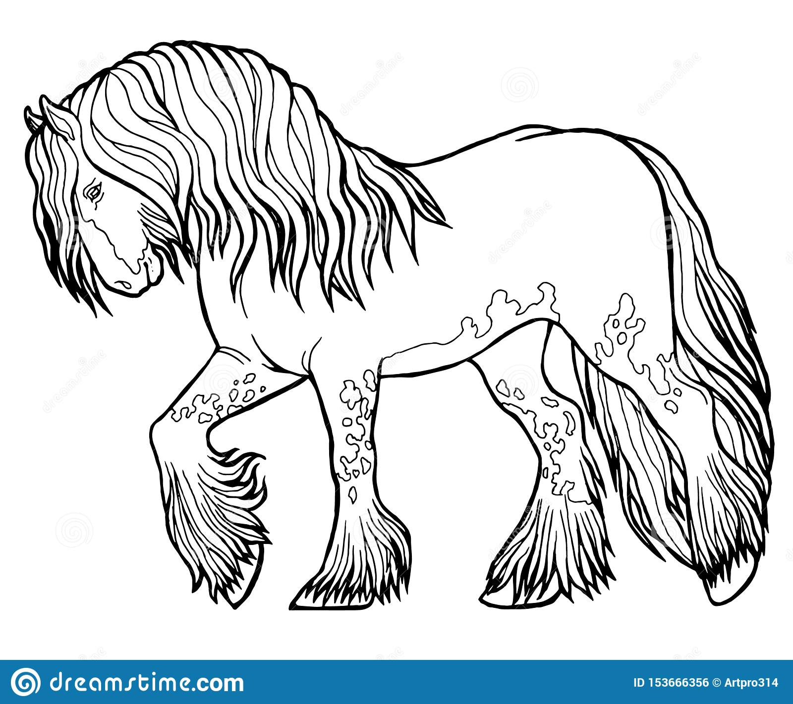 Horse Coloring Book Stock Illustrations 3 633 Horse Coloring Book Stock Illustrations Vectors Clipart Dreamstime