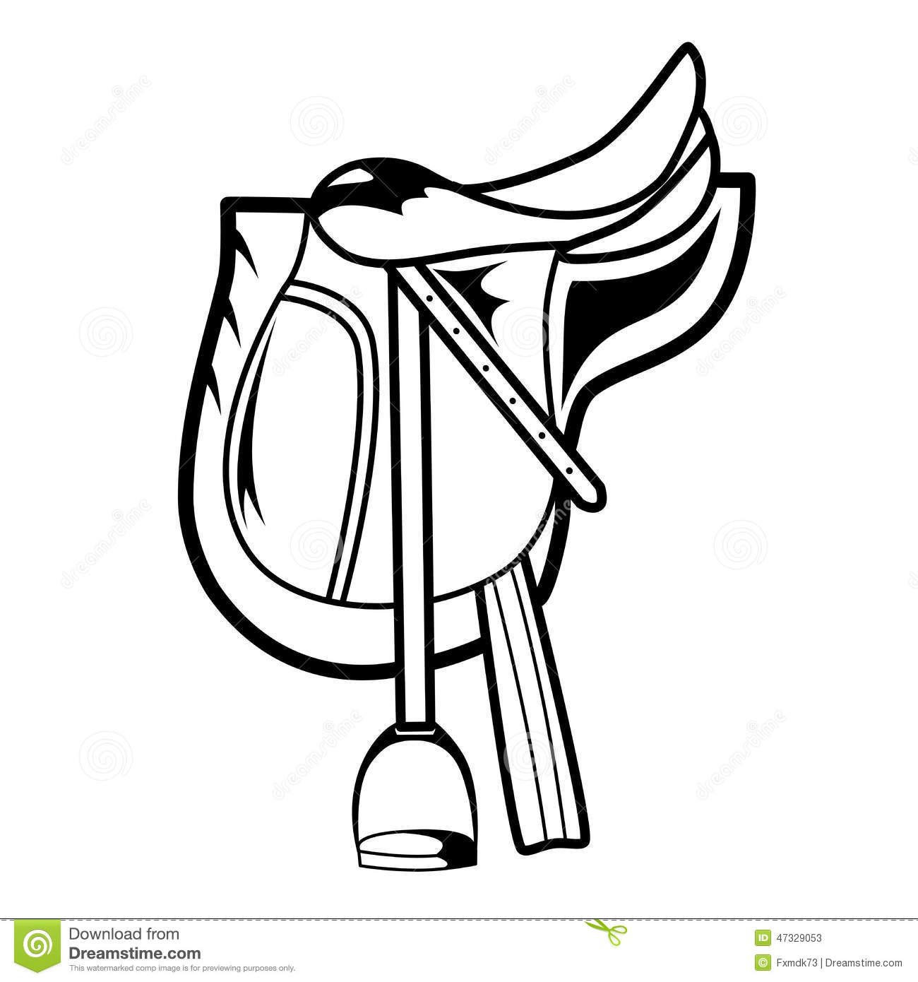 Horse Saddle Stock Vector Illustration Of Riding Seat 47329053