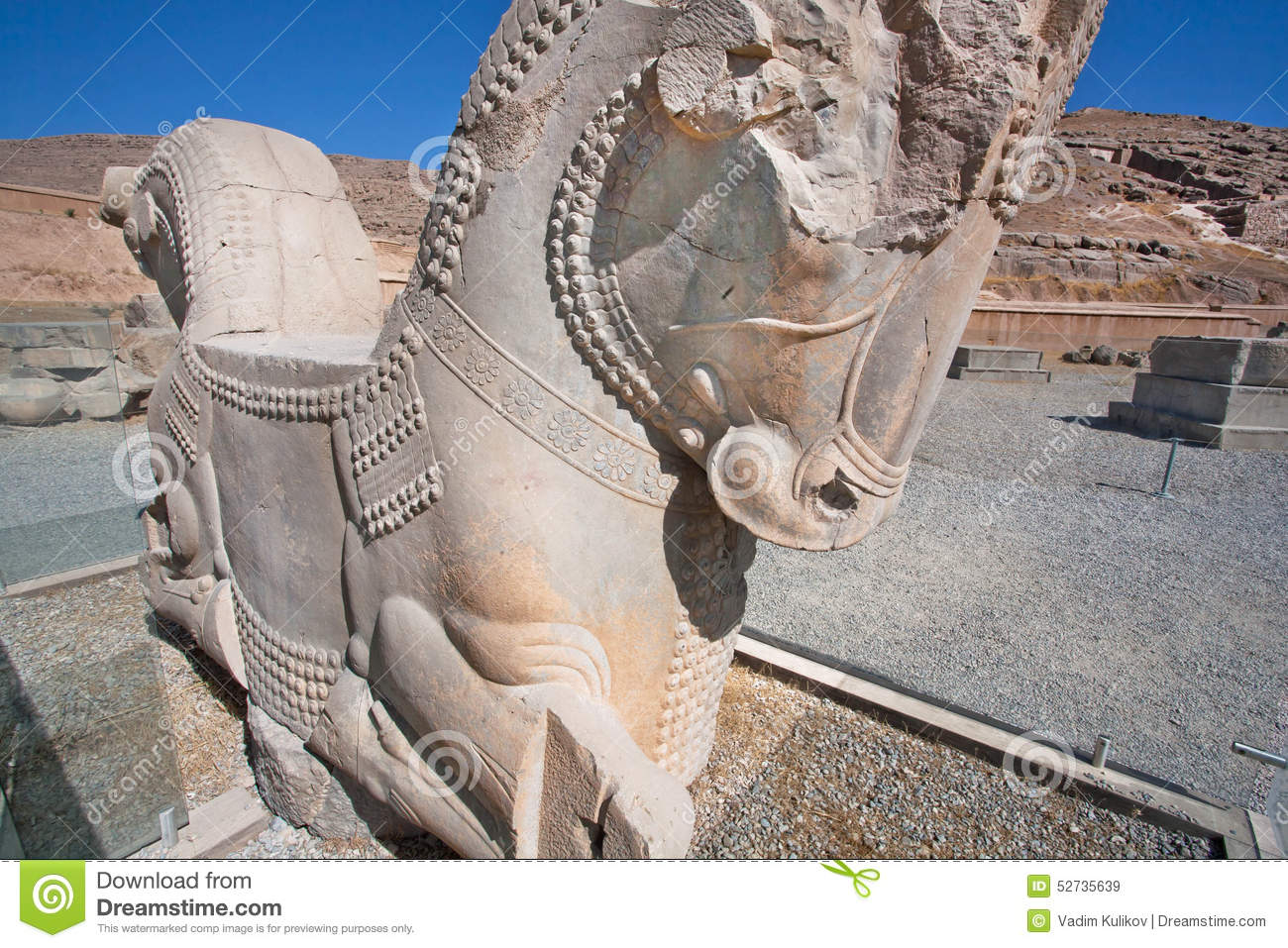 Horse Sculpture From Broken Palace In Persepolis Stock Image Image Of Destruction Empire 52735639