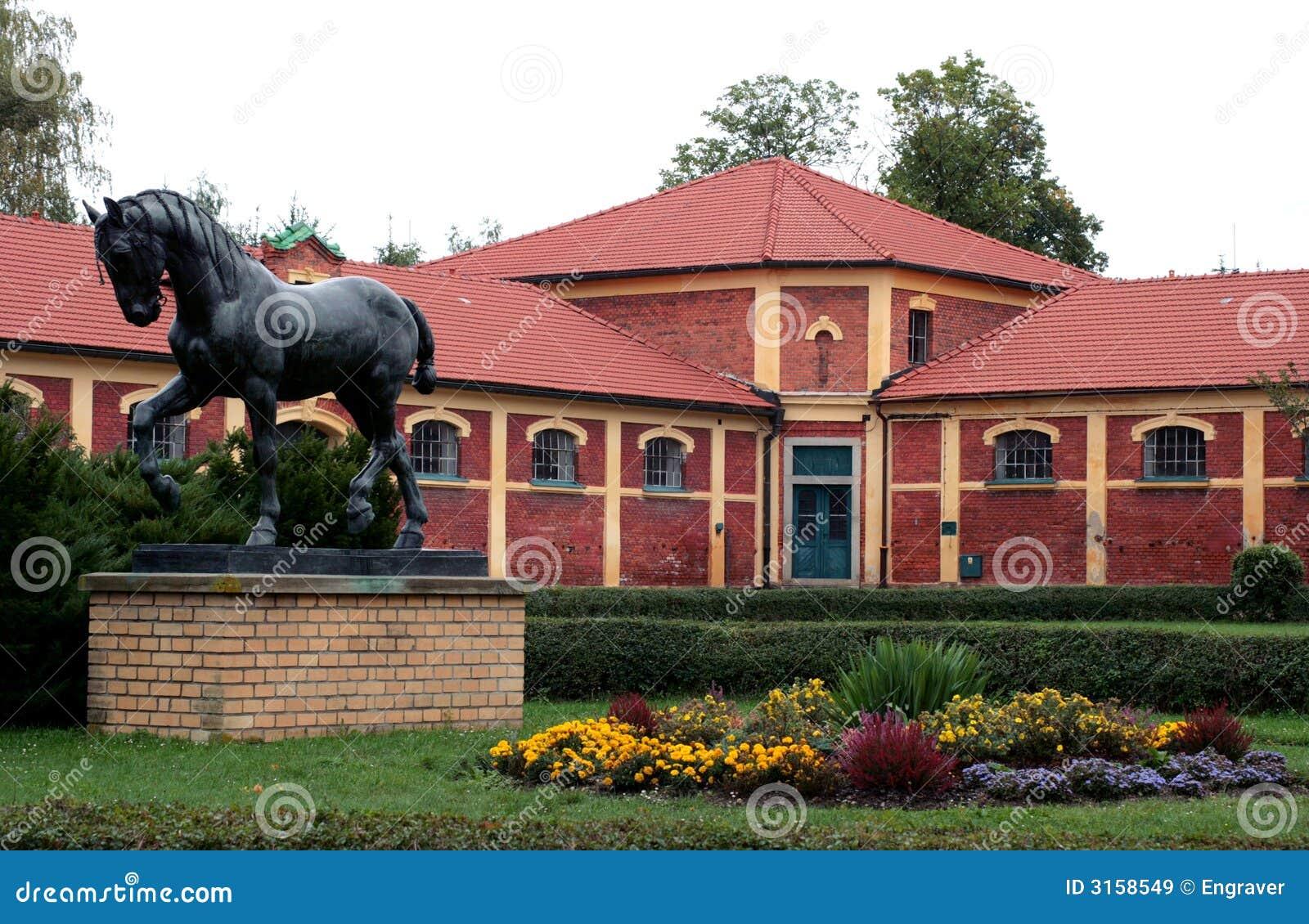 Horse Sculpture Stud Farm Stock Image Image Of Architecture 3158549