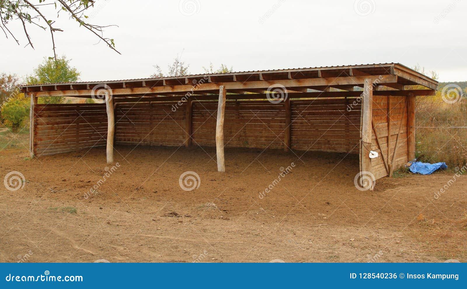 Horse Shelter In Milovice Czechia Stock Photo Image Of Base Wooden 128540236
