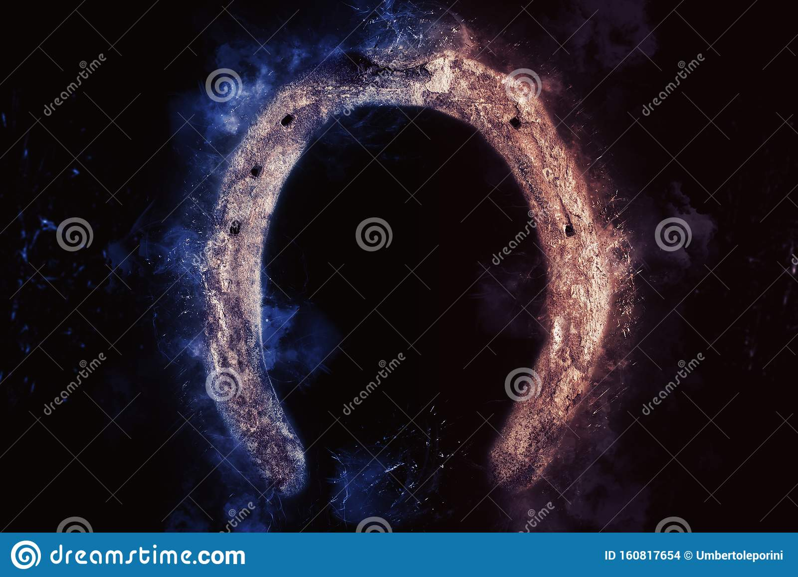 Horse Shoe On Black Background Lucky Charm Stock Photo Image Of Wallpaper Lucky 160817654