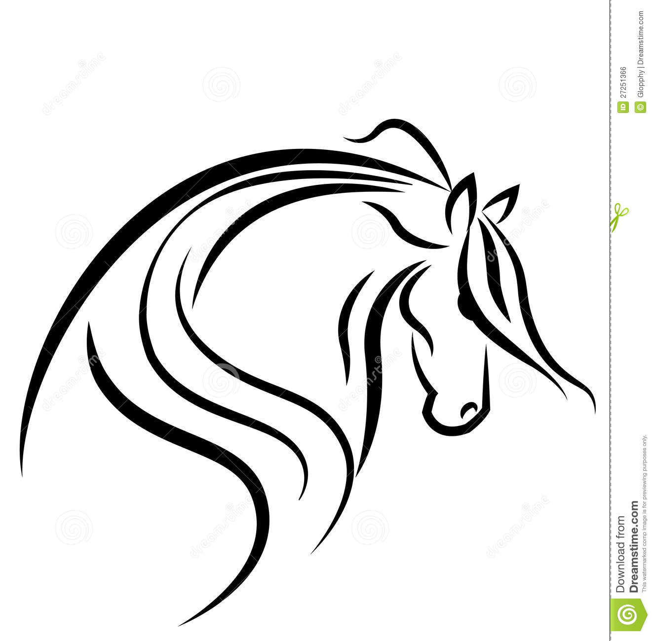 Horse Silhouette Logo Royalty Free Stock Image - Image: 27251366