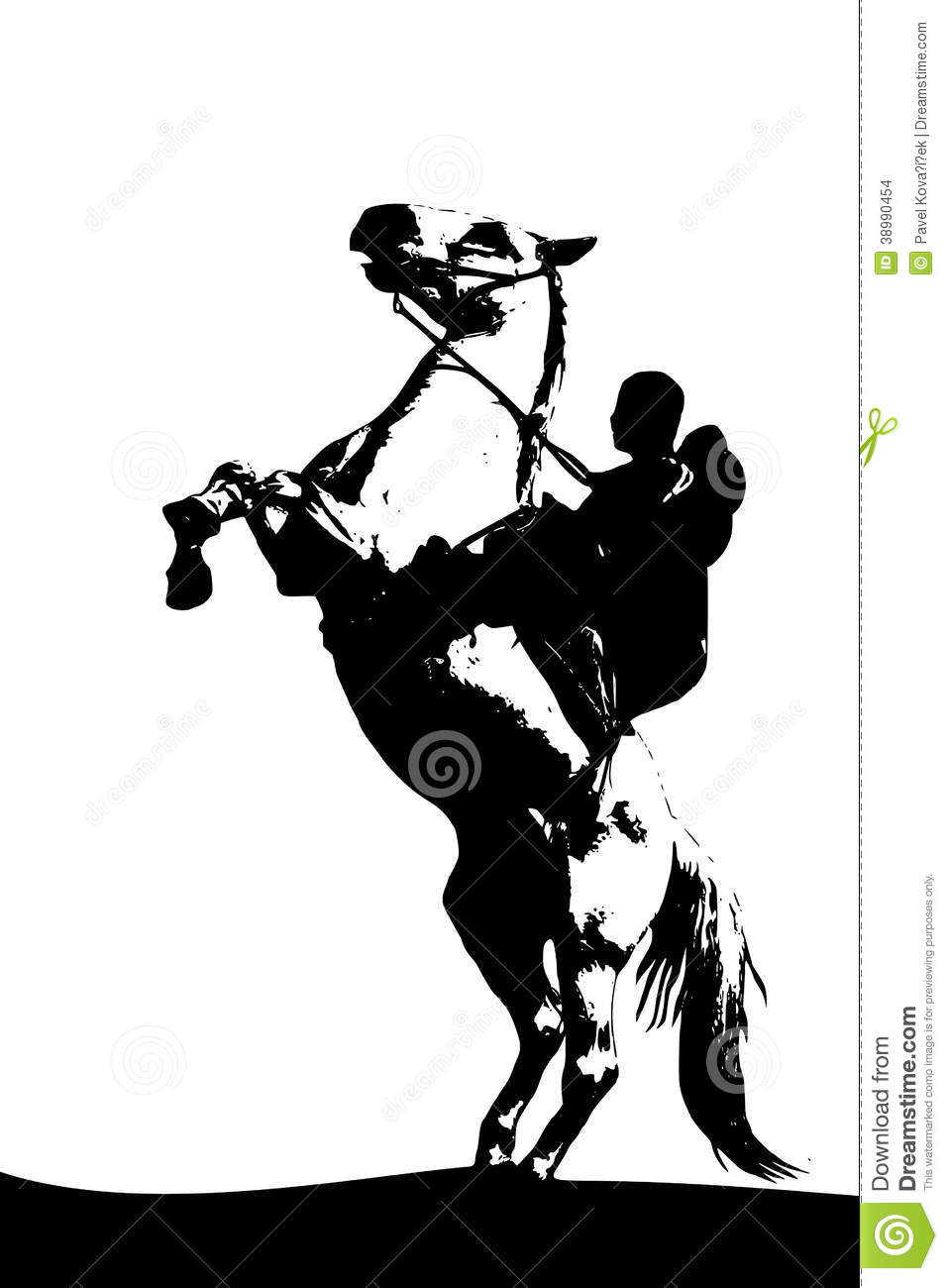Horsestand Upvector Imageblack White Picture Isolated ... |White Horse Standing Up