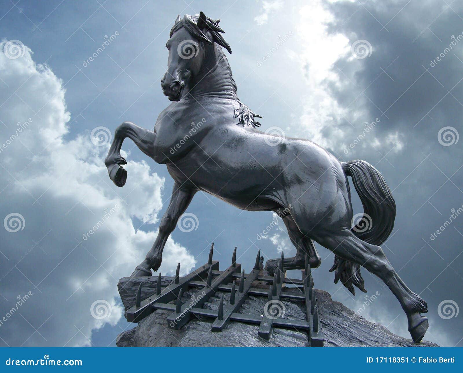horse statue stock image