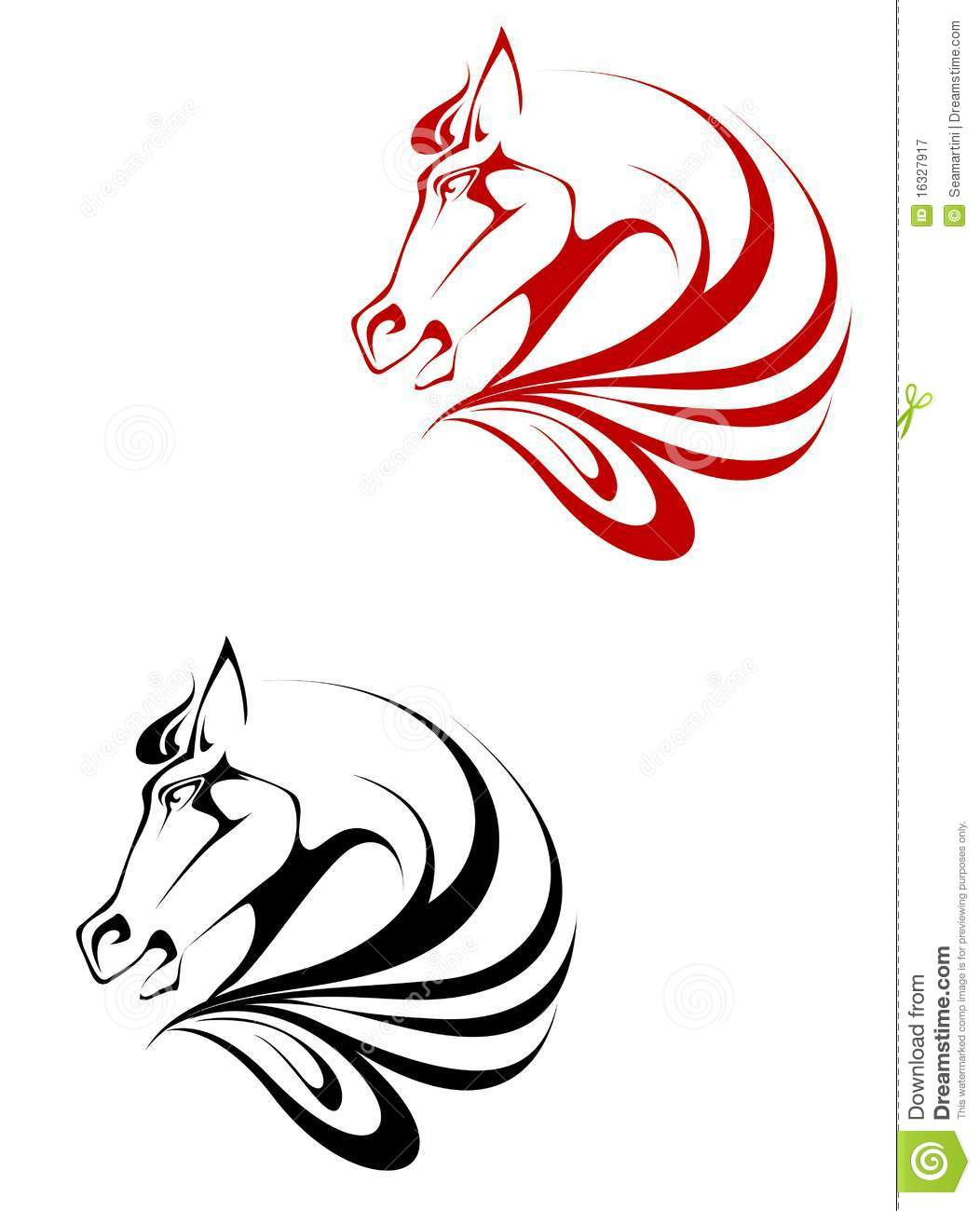 Horse Tattoo Stock Vector Illustration Of Arabian Horseback 16327917