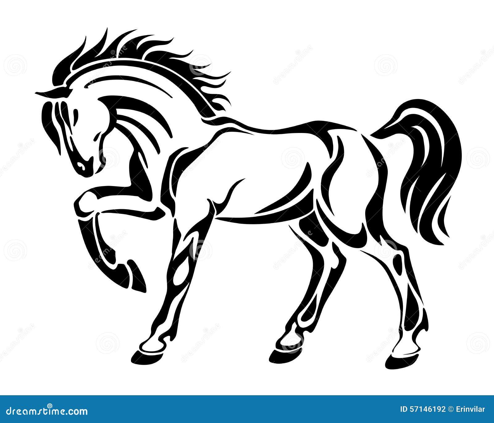 Horse tattoo stylized graphic vector abstract image for Cavallo stilizzato