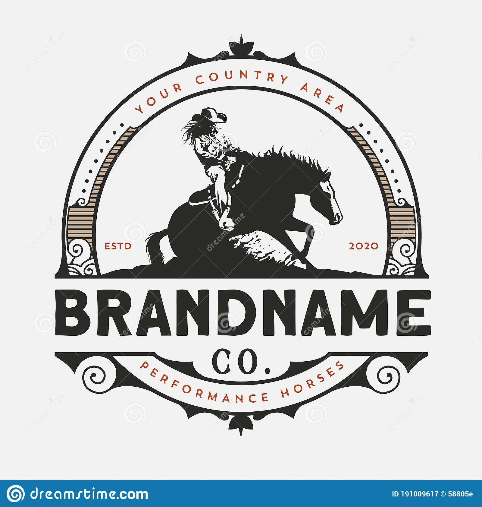 Horse Training Logo Design Cowboy Horse Performanece Stock Vector Illustration Of Equestrian Logo 191009617