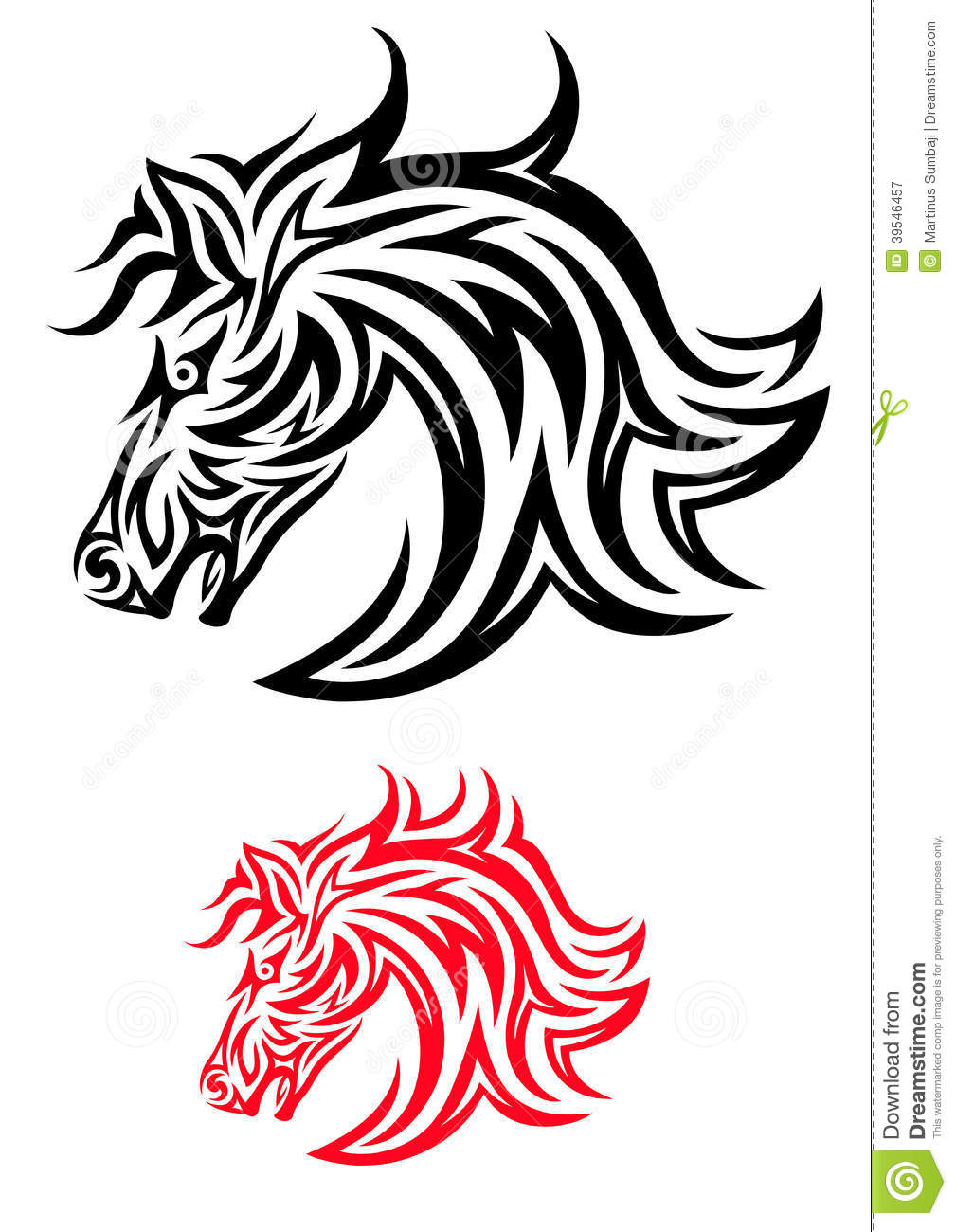 horse tribal stock vector image of clip decor icon 39546457. Black Bedroom Furniture Sets. Home Design Ideas