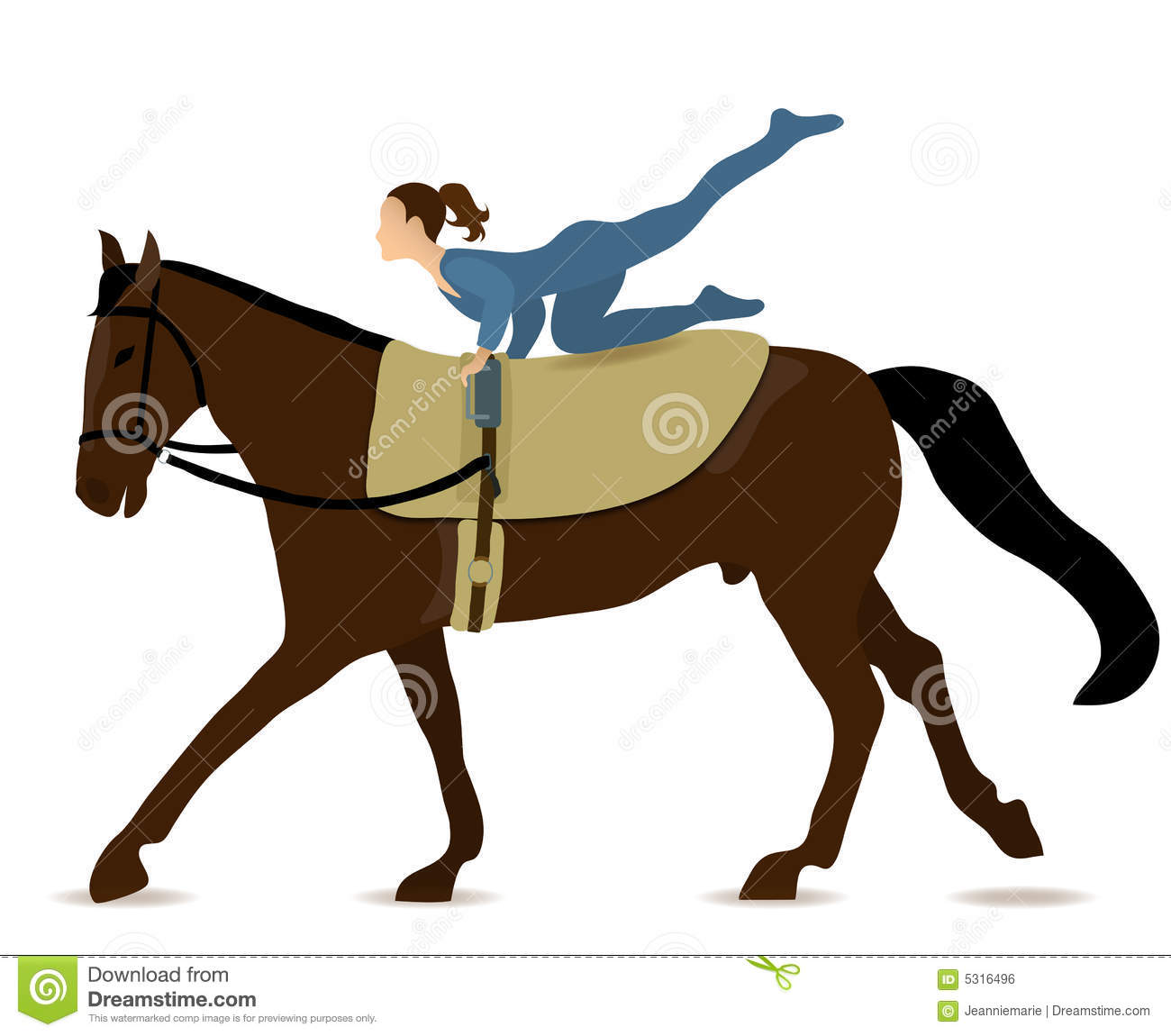 Horse Vaulting Royalty Free Stock Image Image 5316496