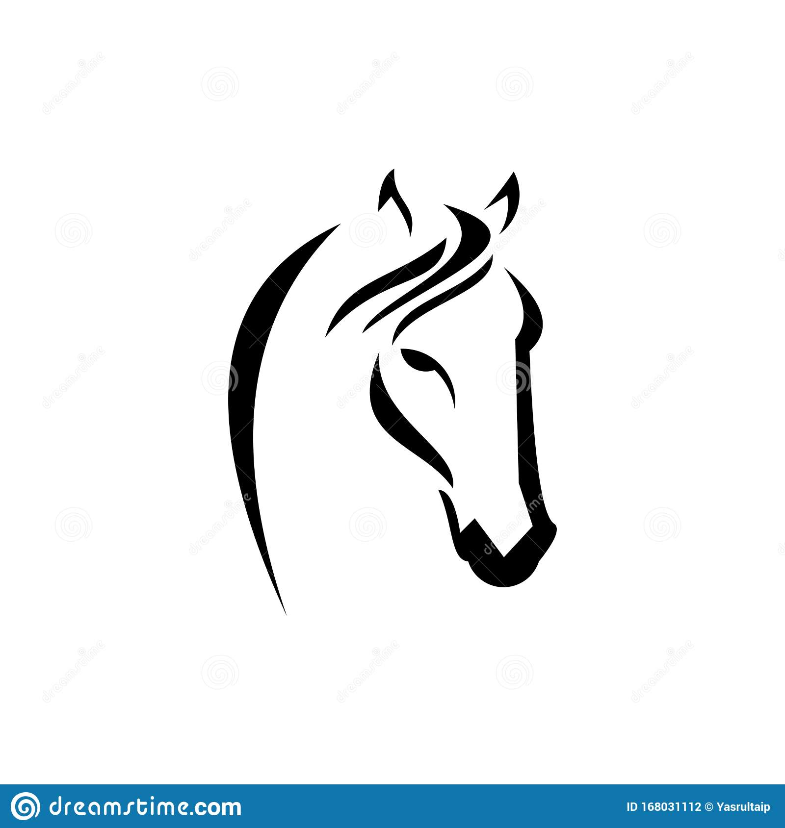Horse Vector Modern Abstract Logo Stock Vector Illustration Of Nature Silhouette 168031112