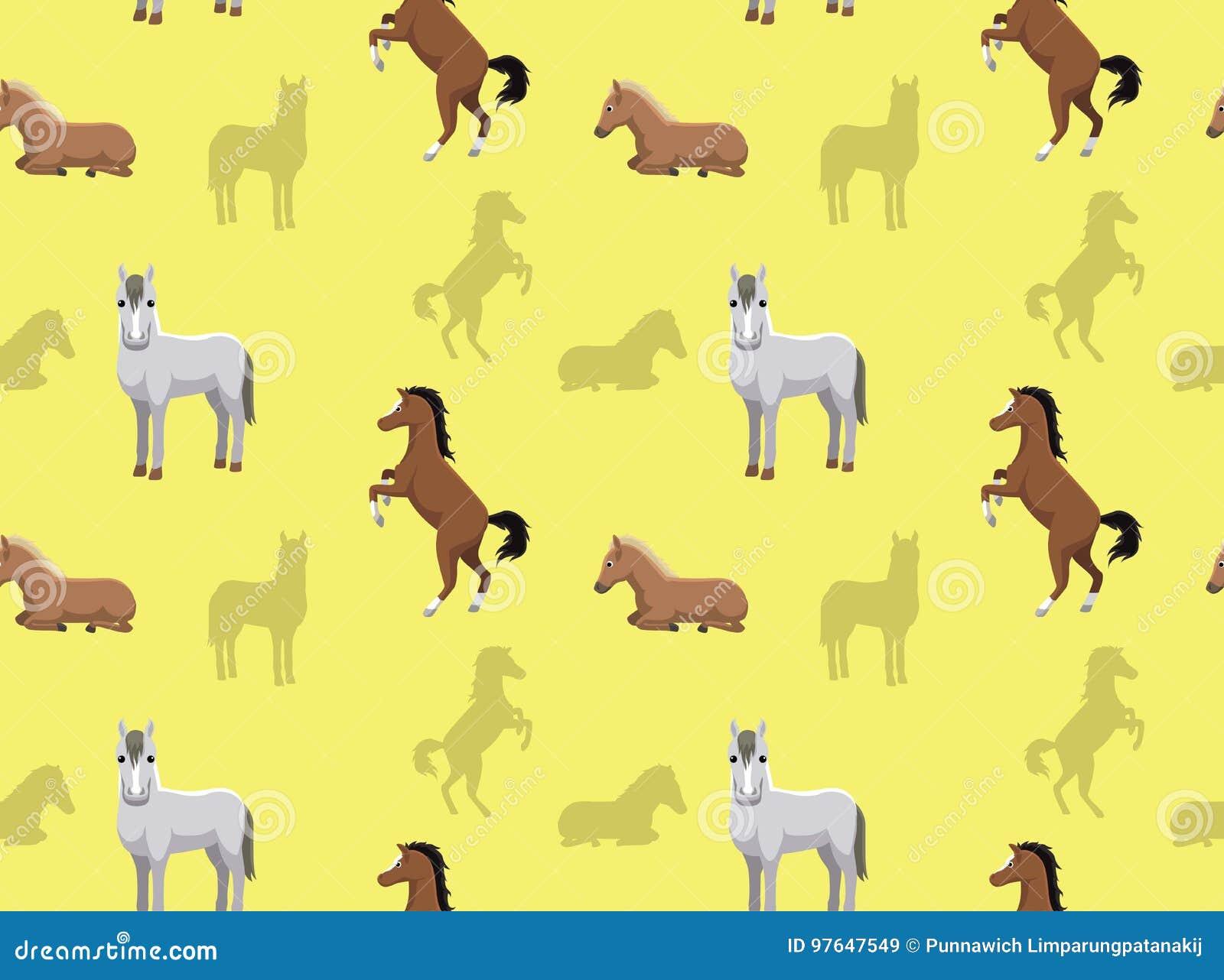Horse Wallpaper 2 Stock Vector Illustration Of Domestic 97647549