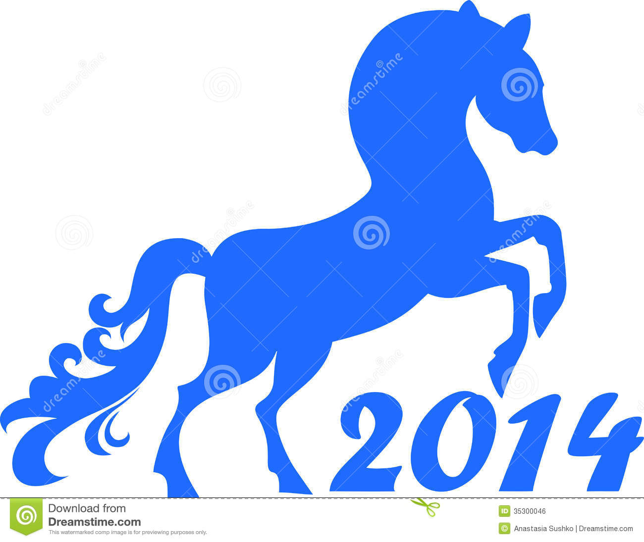 Chinese New Year Calendar Zodiac : Horse year royalty free stock image