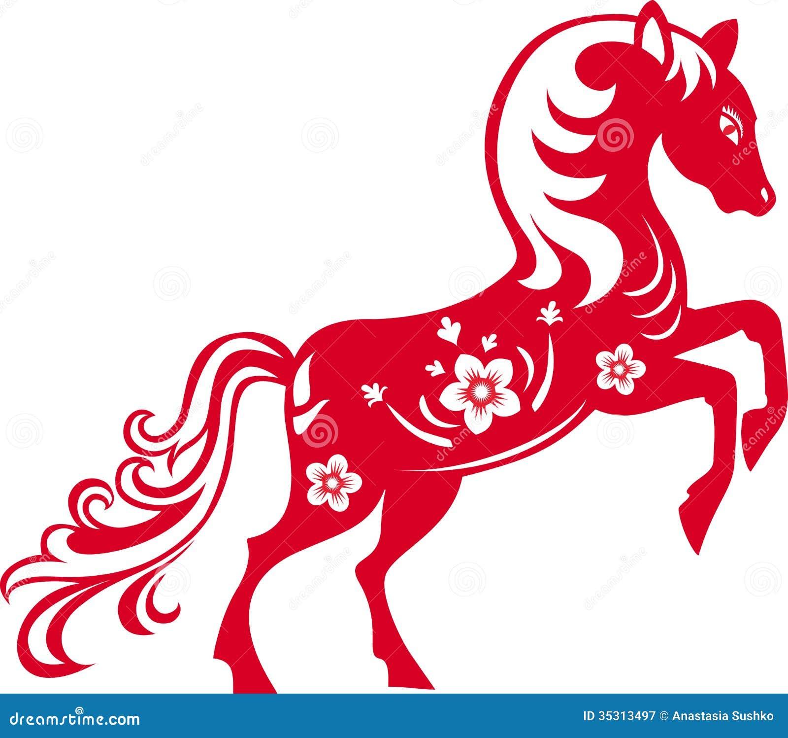 Horse stock vector illustration of paper zodiac east 35313497 horse paper zodiac biocorpaavc