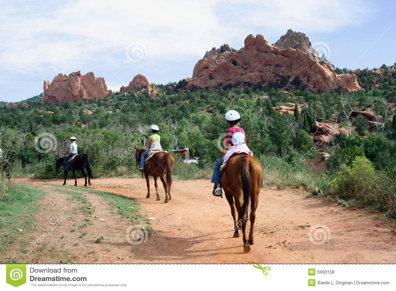 horseback riding in the garden of the gods royalty free stock photos image 6993158