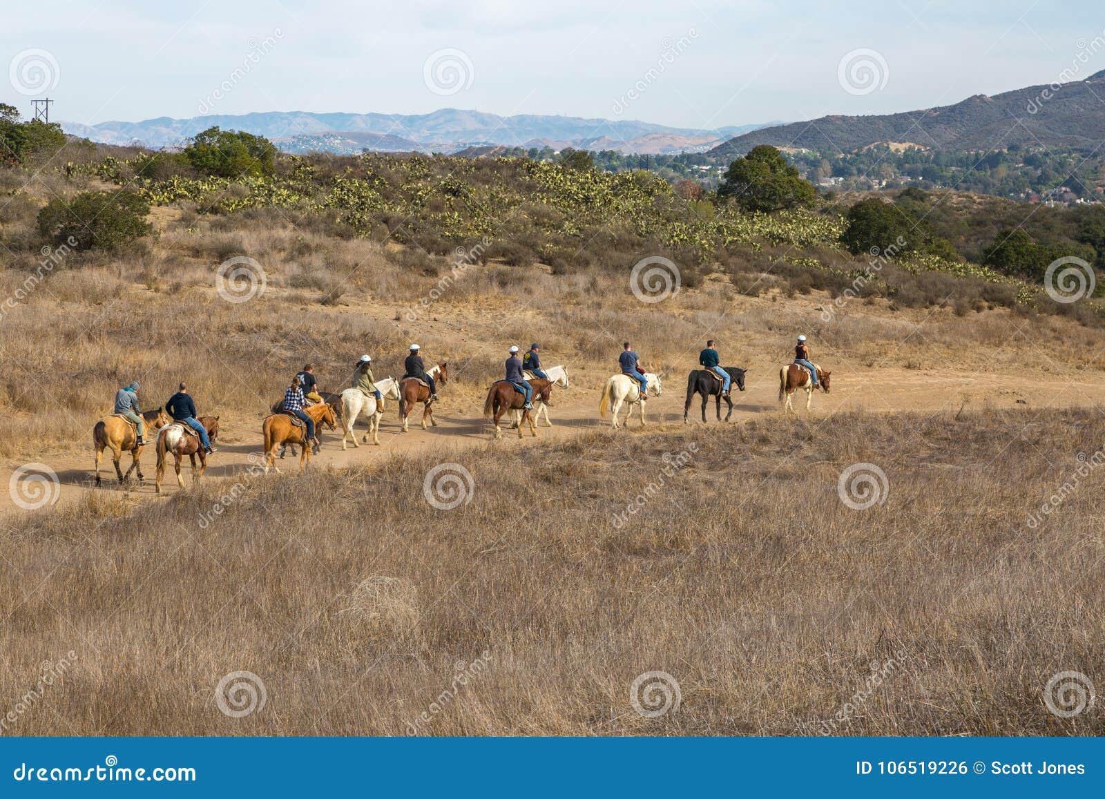 Horseback Riding In Santa Monica Mountains Editorial Photo Image