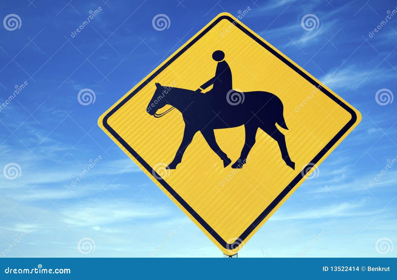 horseback riding sign stock images image 13522414