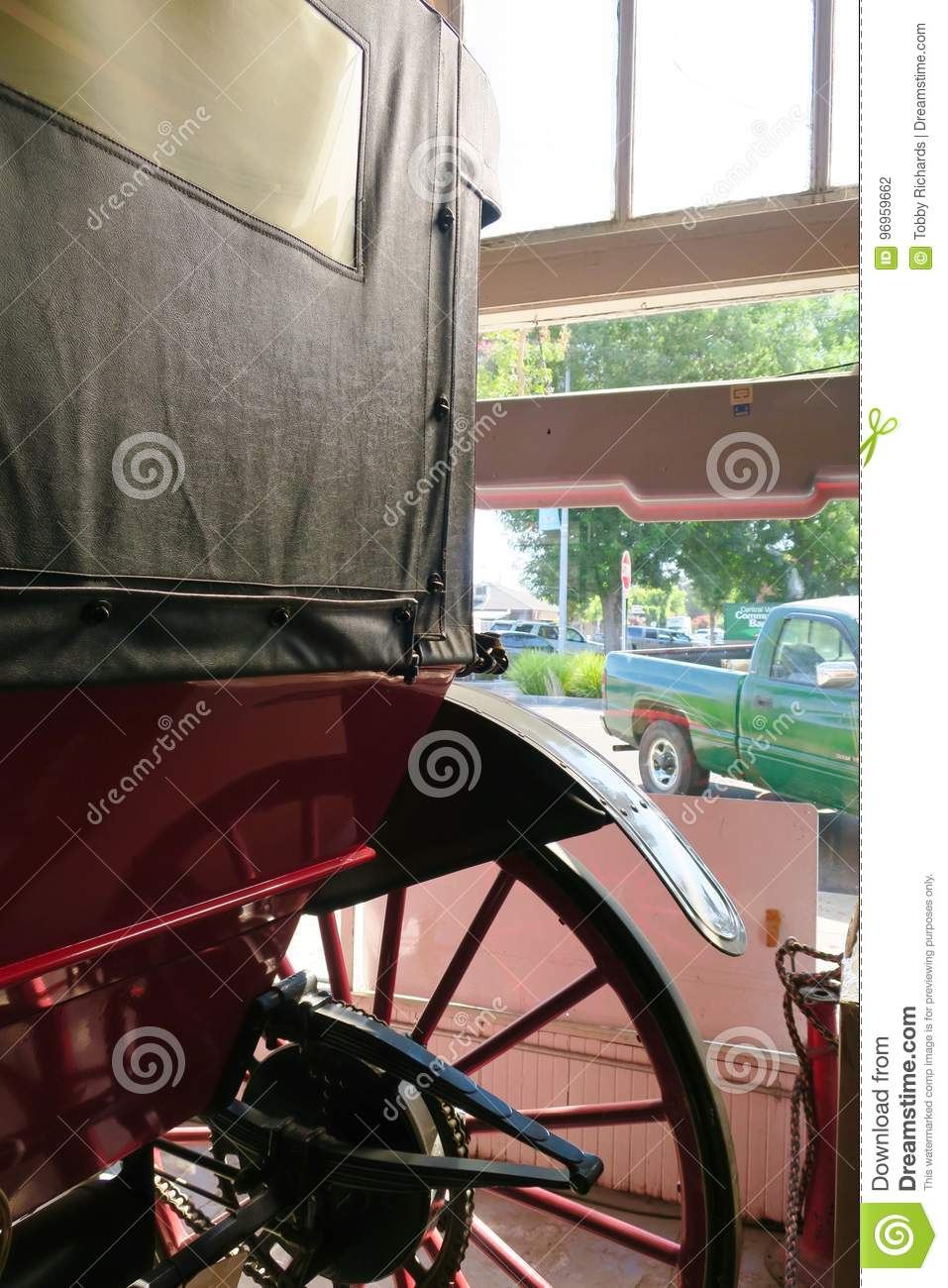 Horseless Carriage stock photo  Image of green, united
