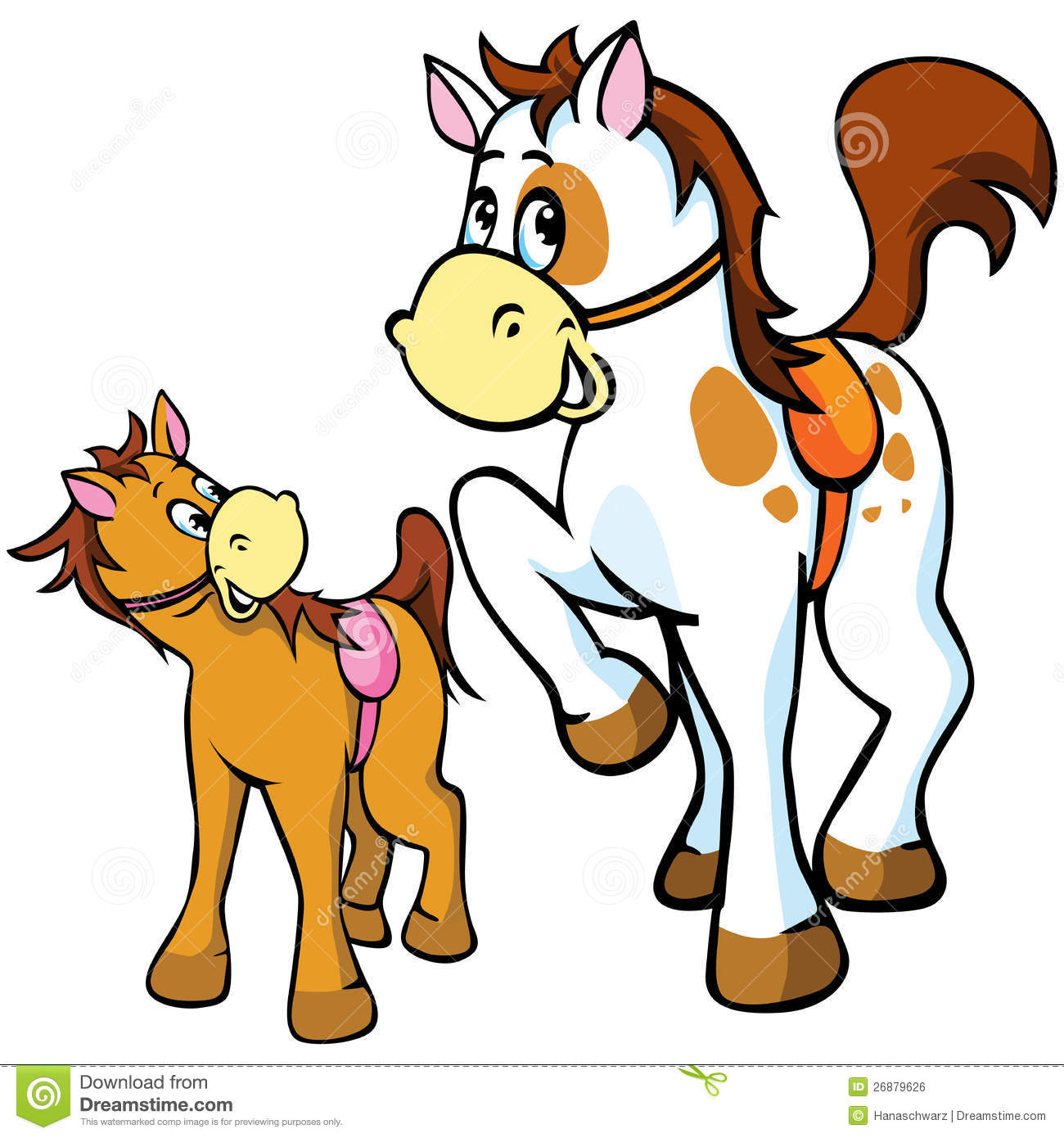Horses Illustration Royalty Free Stock Image - Image: 26879626