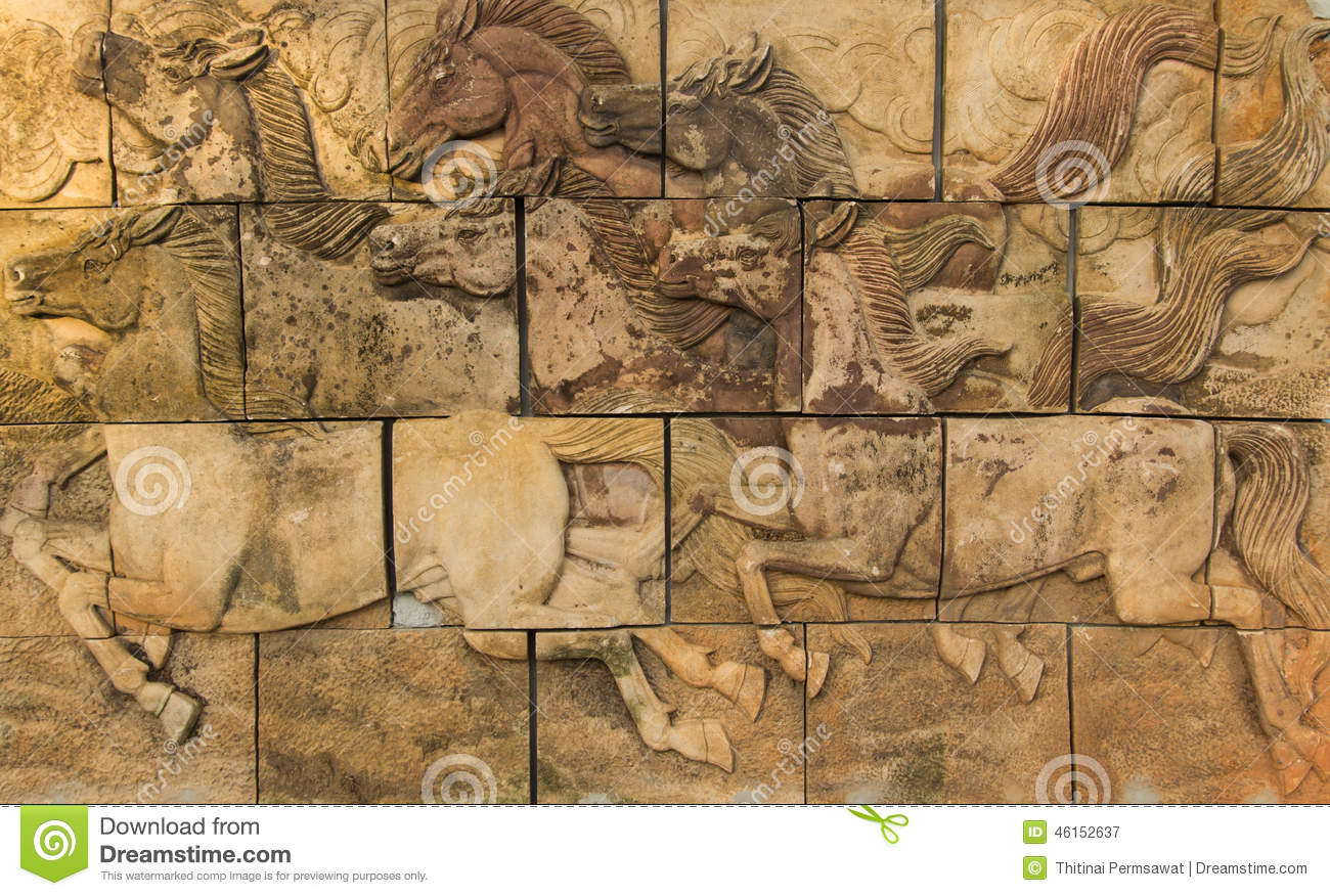Horses on the wall