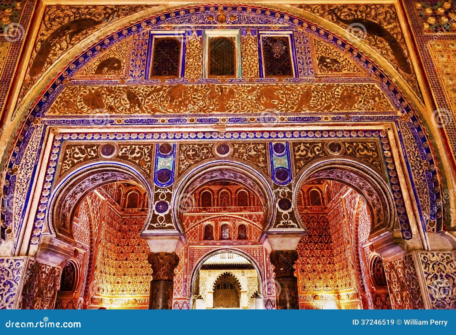 Horseshoe Arches Ambassador Room Alcazar Royal Palace Seville Royalty Free Stock Images Image