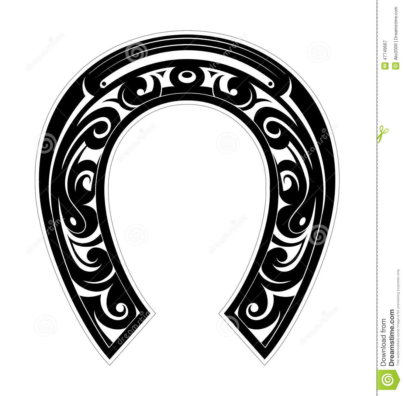 Horseshoe As Symbol Of Luck Stock Vector - Image: 47749667