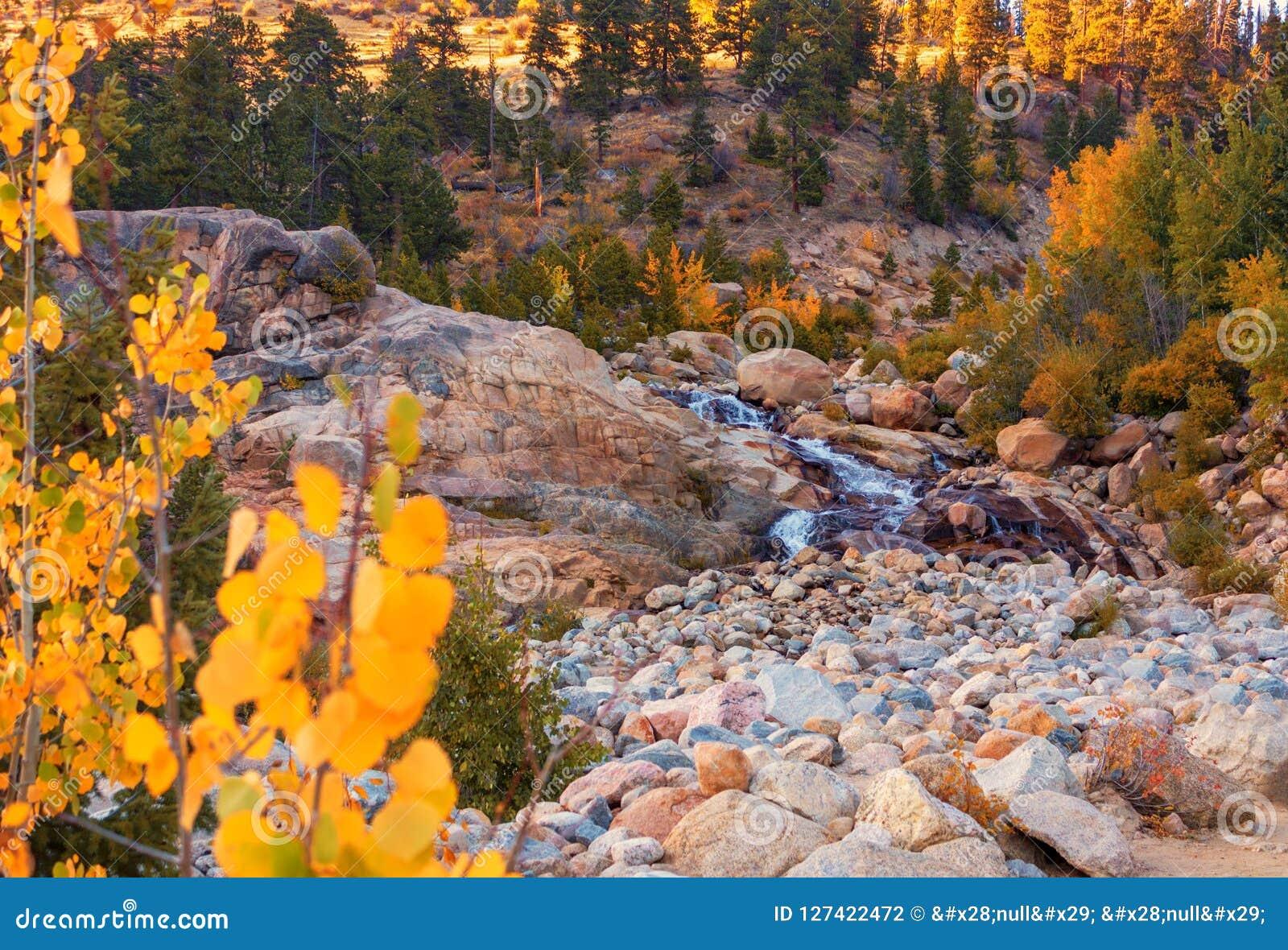 Horseshoe Falls; Rocky Mountain National Park