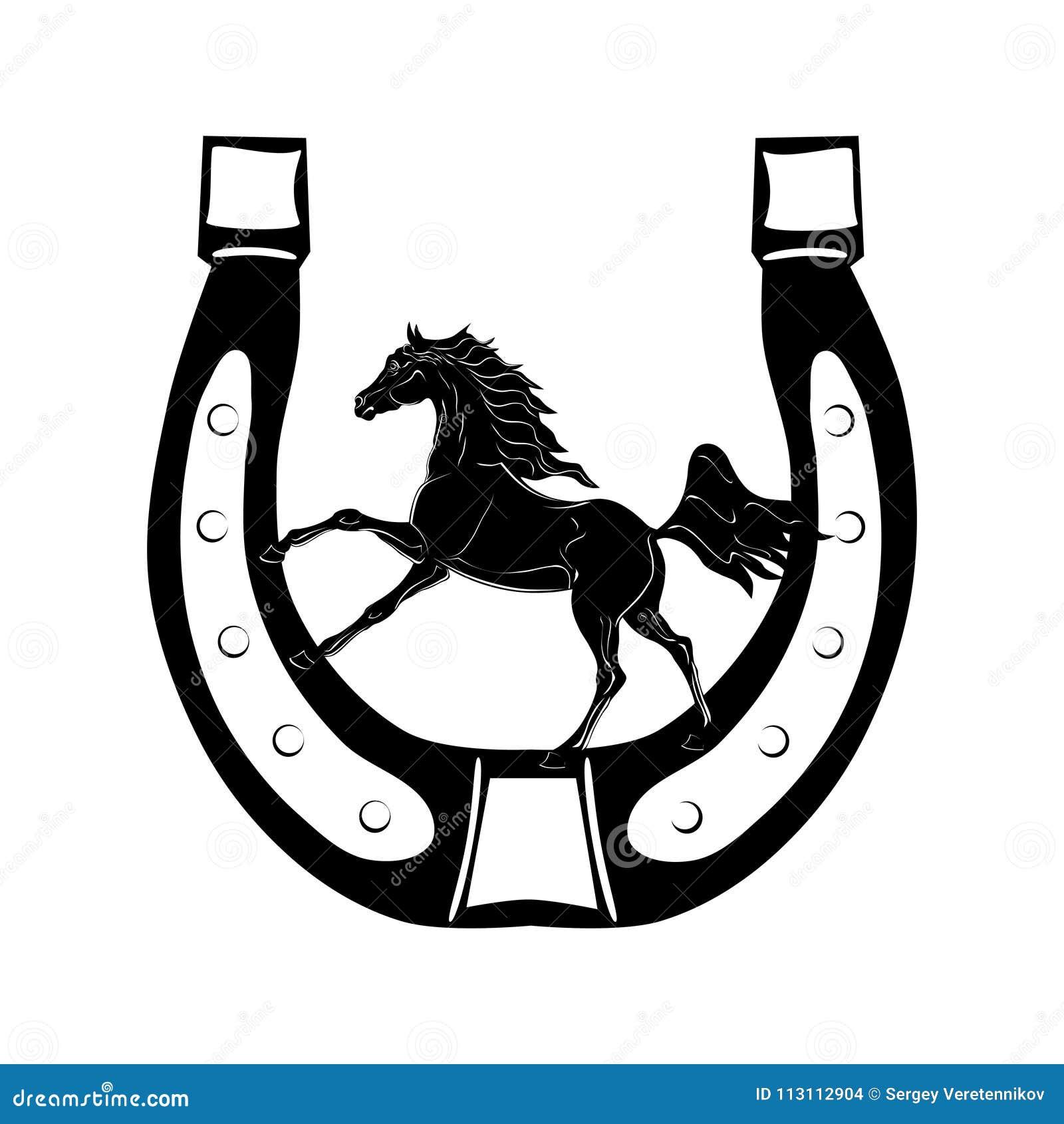 Horseshoe Symbol Of Luck Stock Vector Illustration Of Object