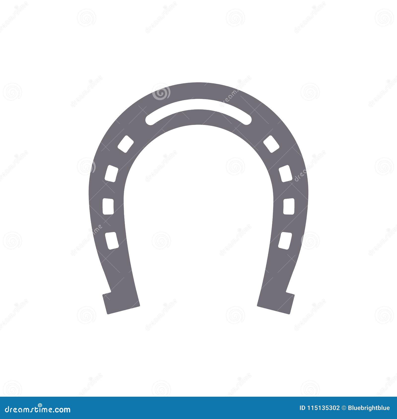 Horseshoe Good Luck Symbol Isolated Stock Vector Illustration Of