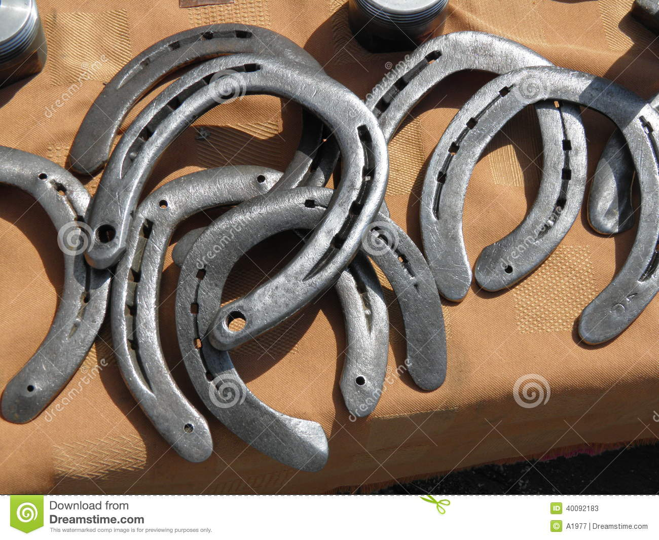 Horseshoes stock image image of work shaped horseshoe for Where to buy used horseshoes