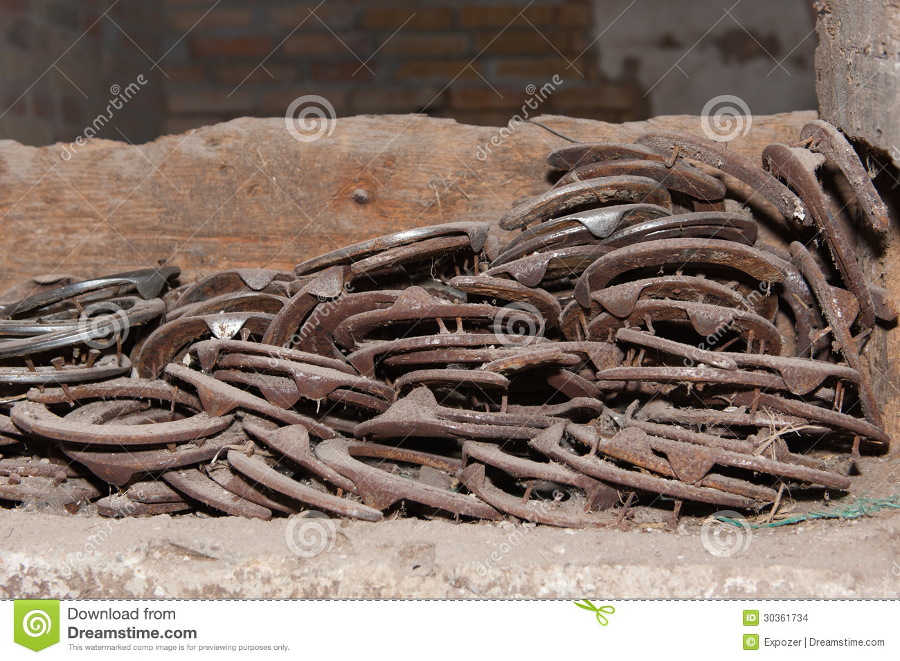 Horseshoes stock photo image of happy ranch antique for Where to buy used horseshoes